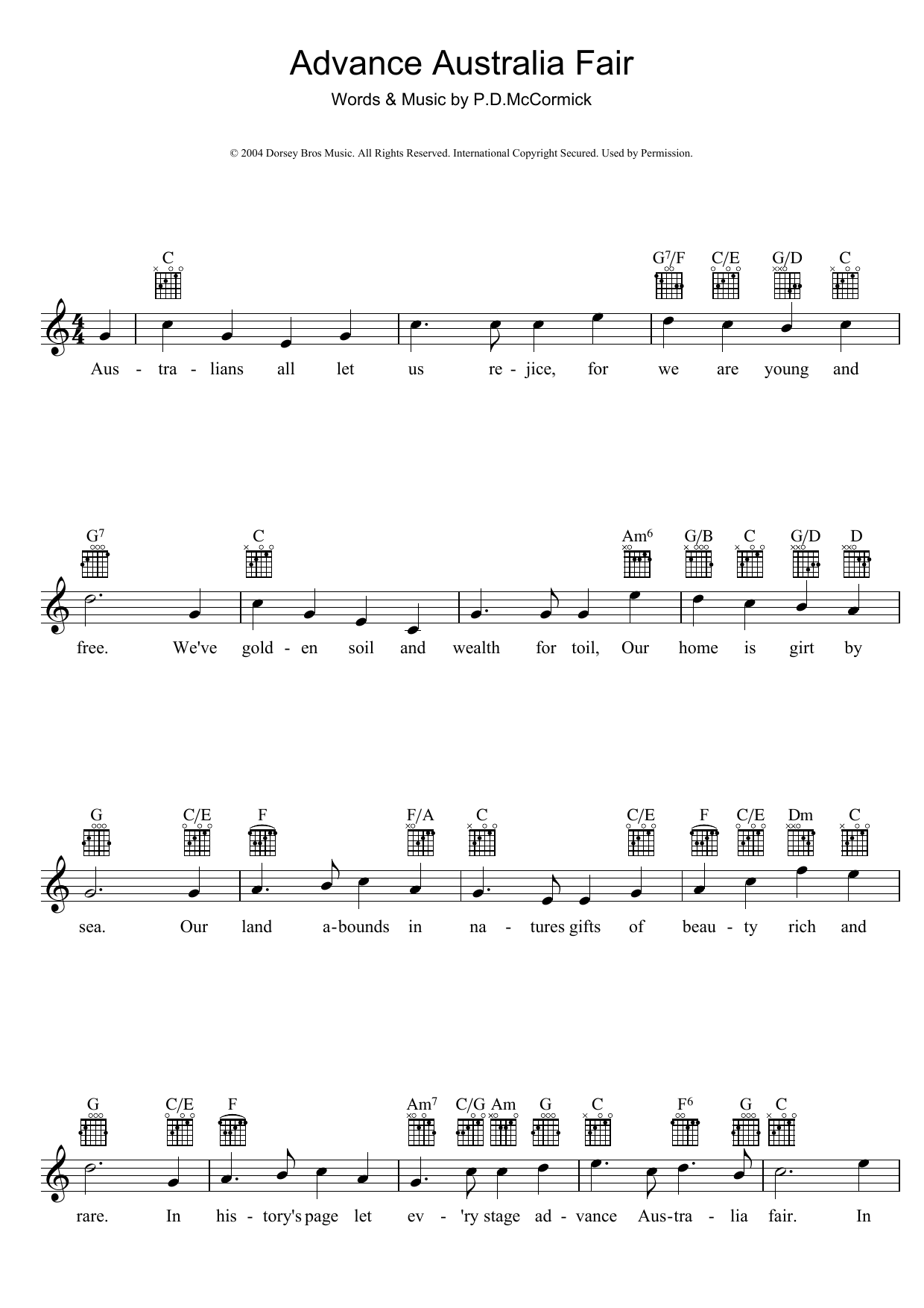 Peter McCormick - Advance Australia Fair (Australian National Anthem)