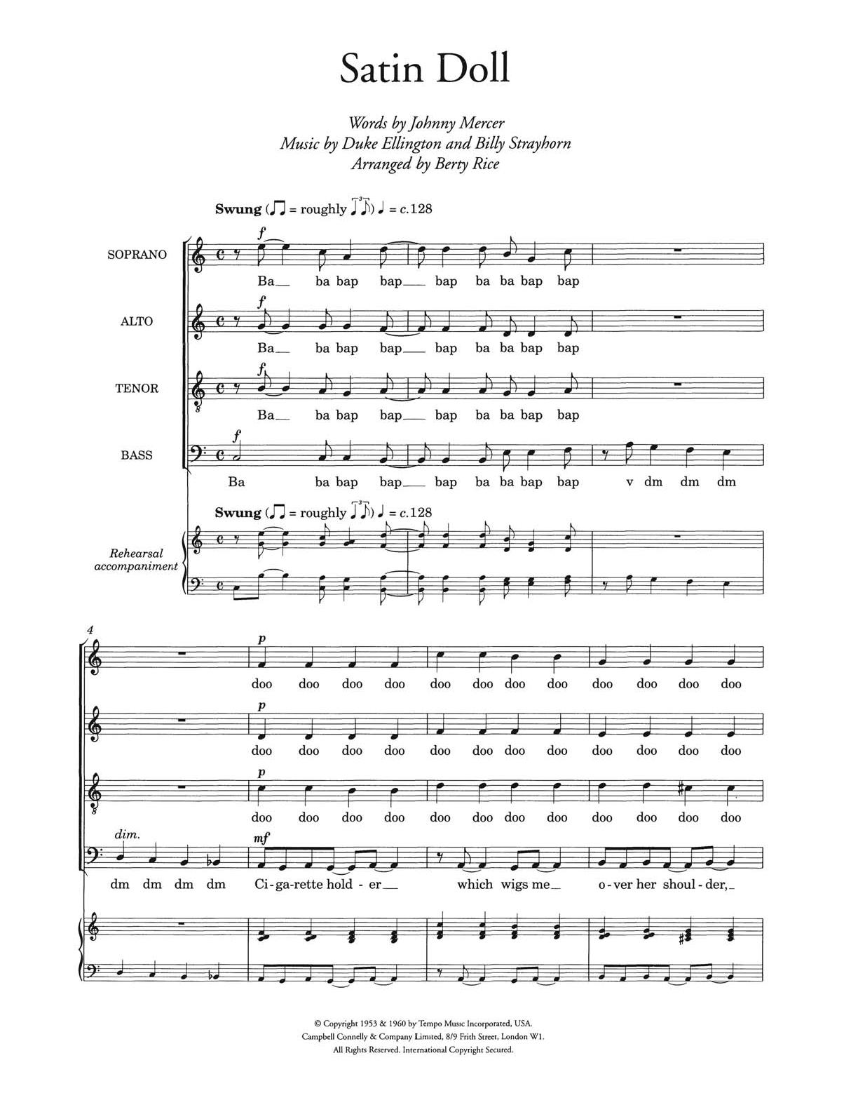 Duke Ellington - Satin Doll (arr. Berty Rice)