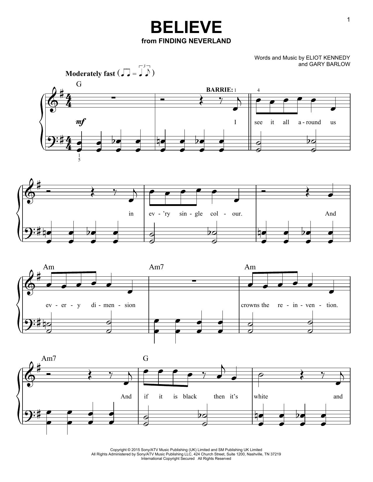 Gary Barlow & Eliot Kennedy - Believe
