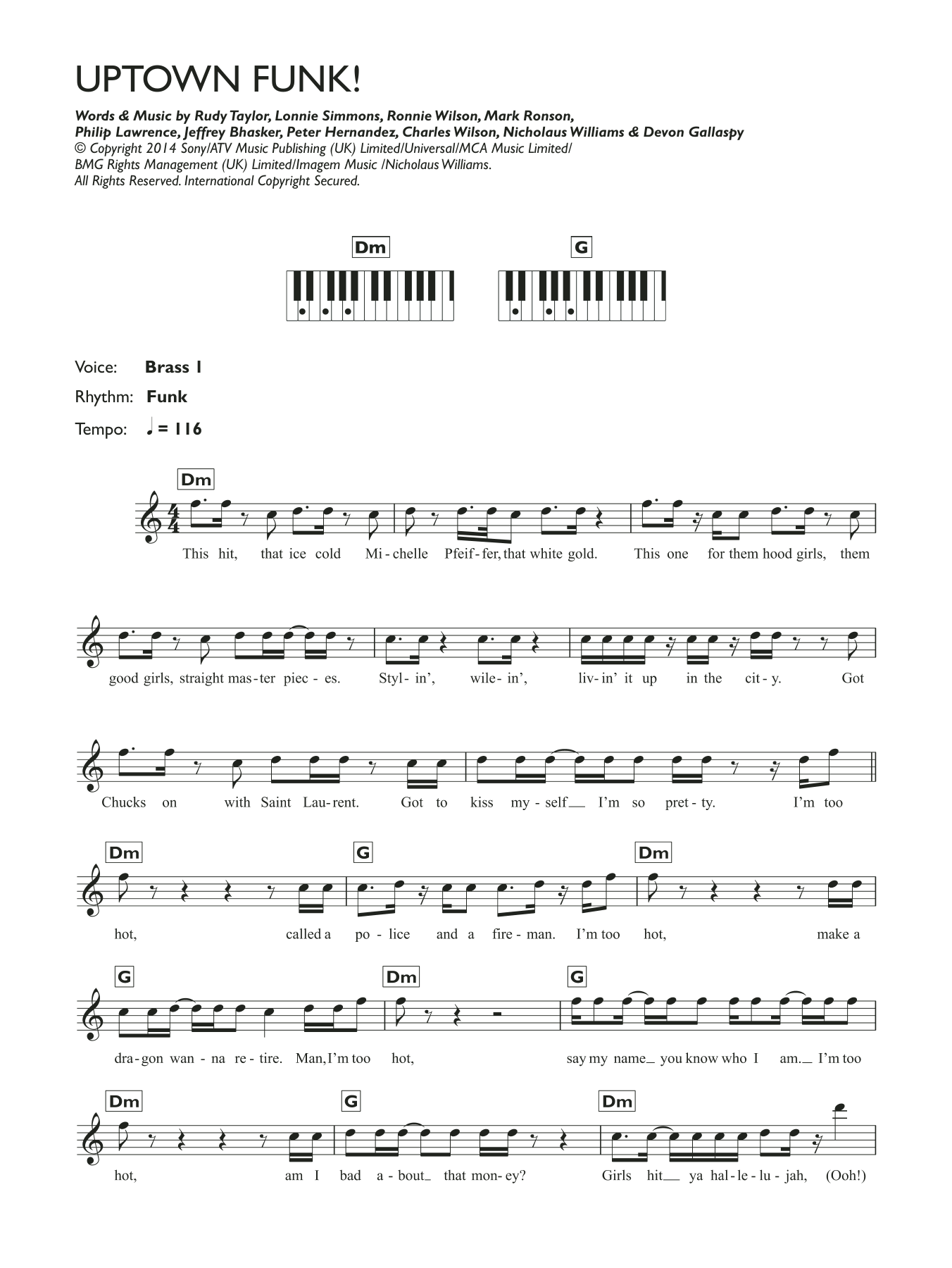 Mark Ronson - Uptown Funk (featuring Bruno Mars)