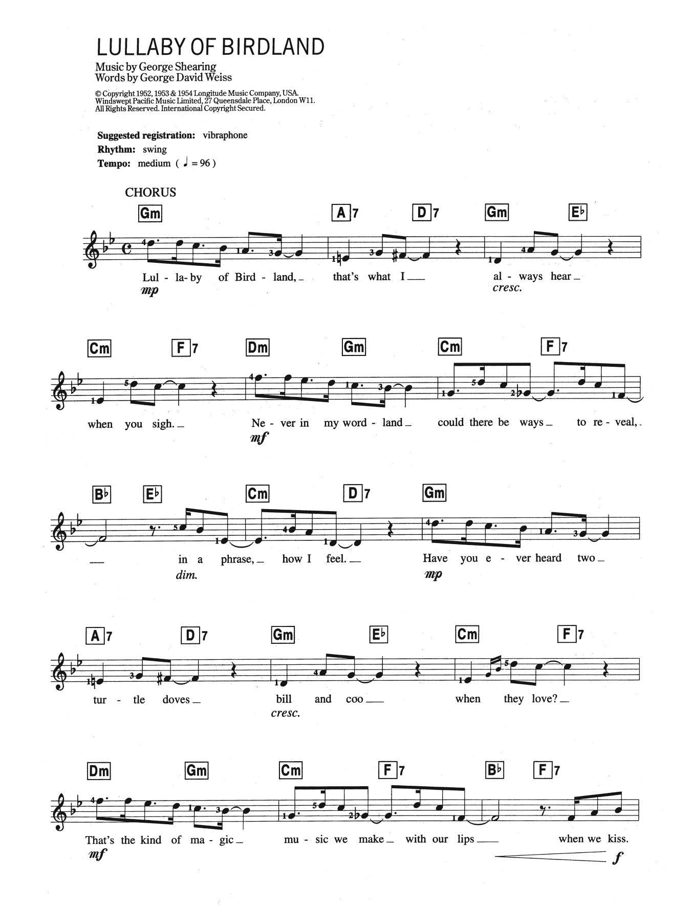 Ella Fitzgerald - Lullaby Of Birdland