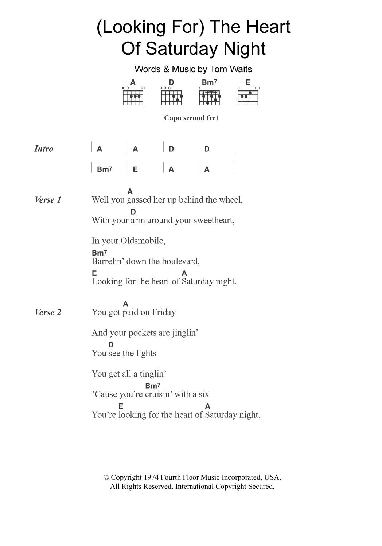 Sheet Music Digital Files To Print Licensed Tom Waits Digital