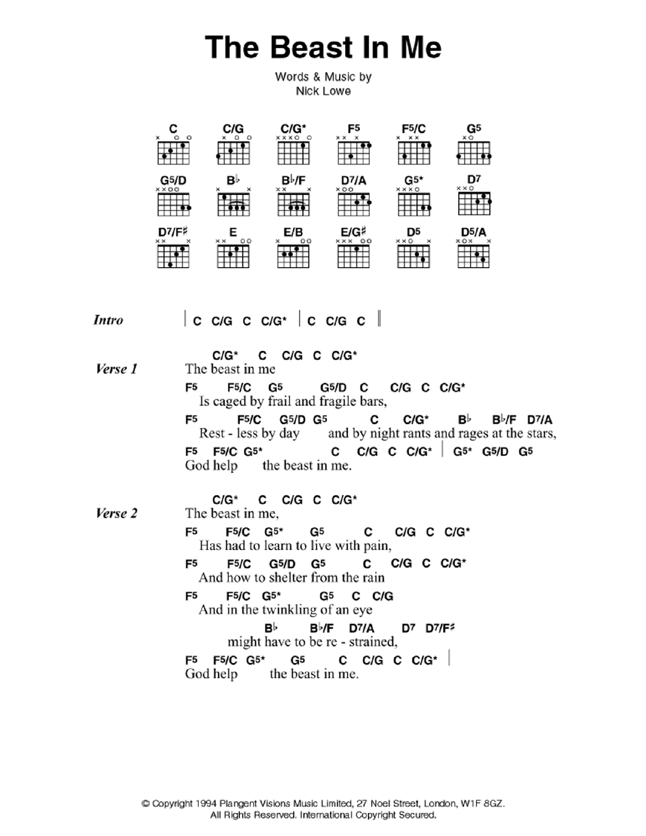 Guitar Chord Country Music At Stantons Sheet Music