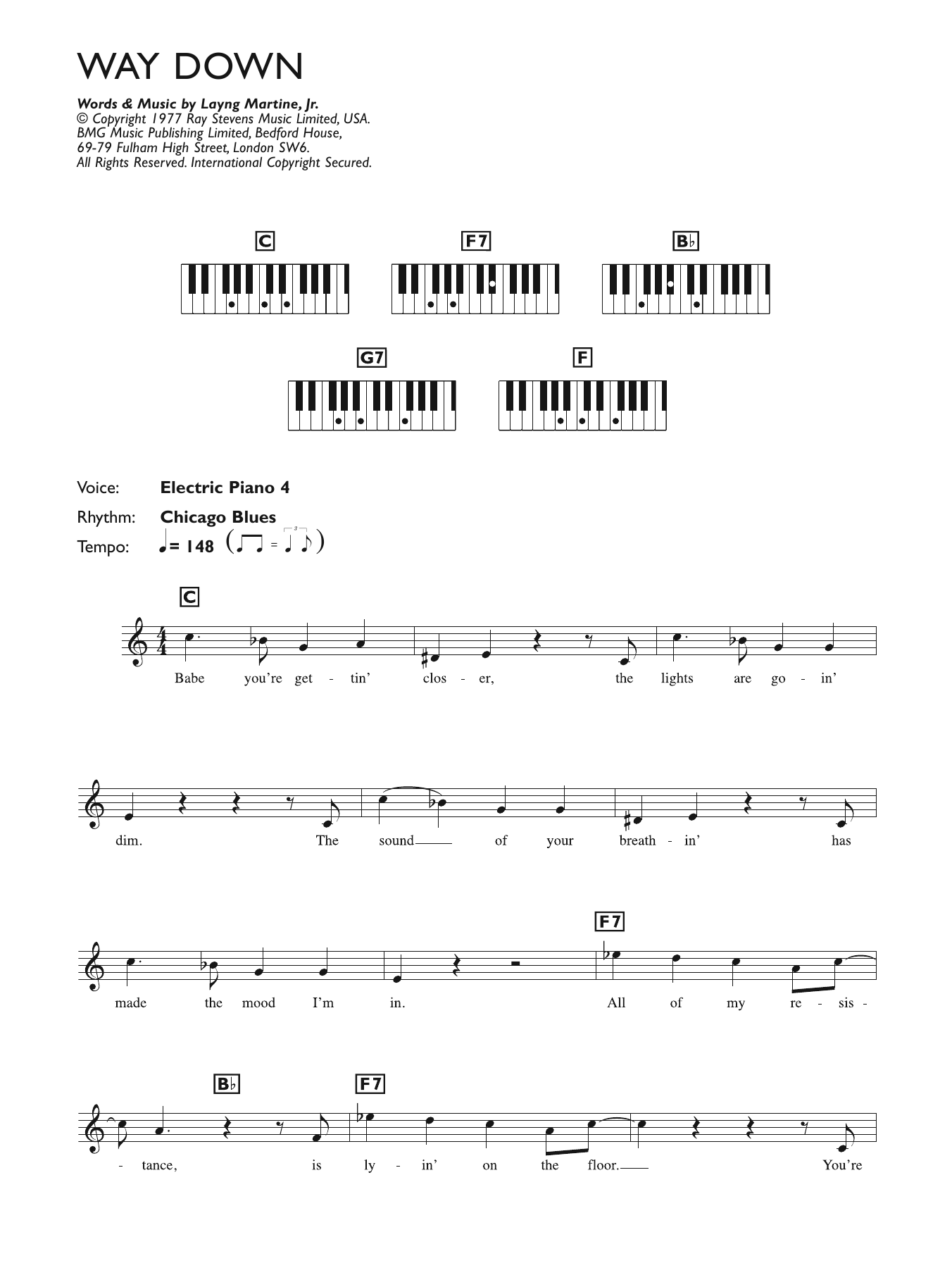 Piano chord sheet music at stantons sheet music elvis presley way down the beach boys surfin usa hexwebz Images