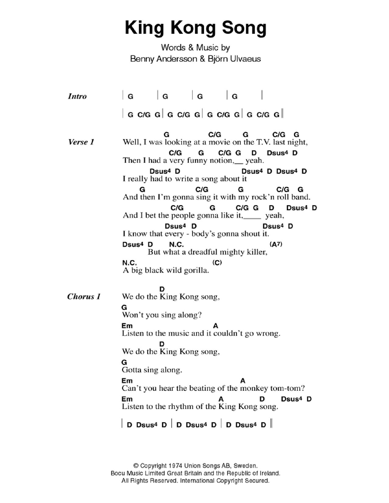 ABBA - King Kong Song