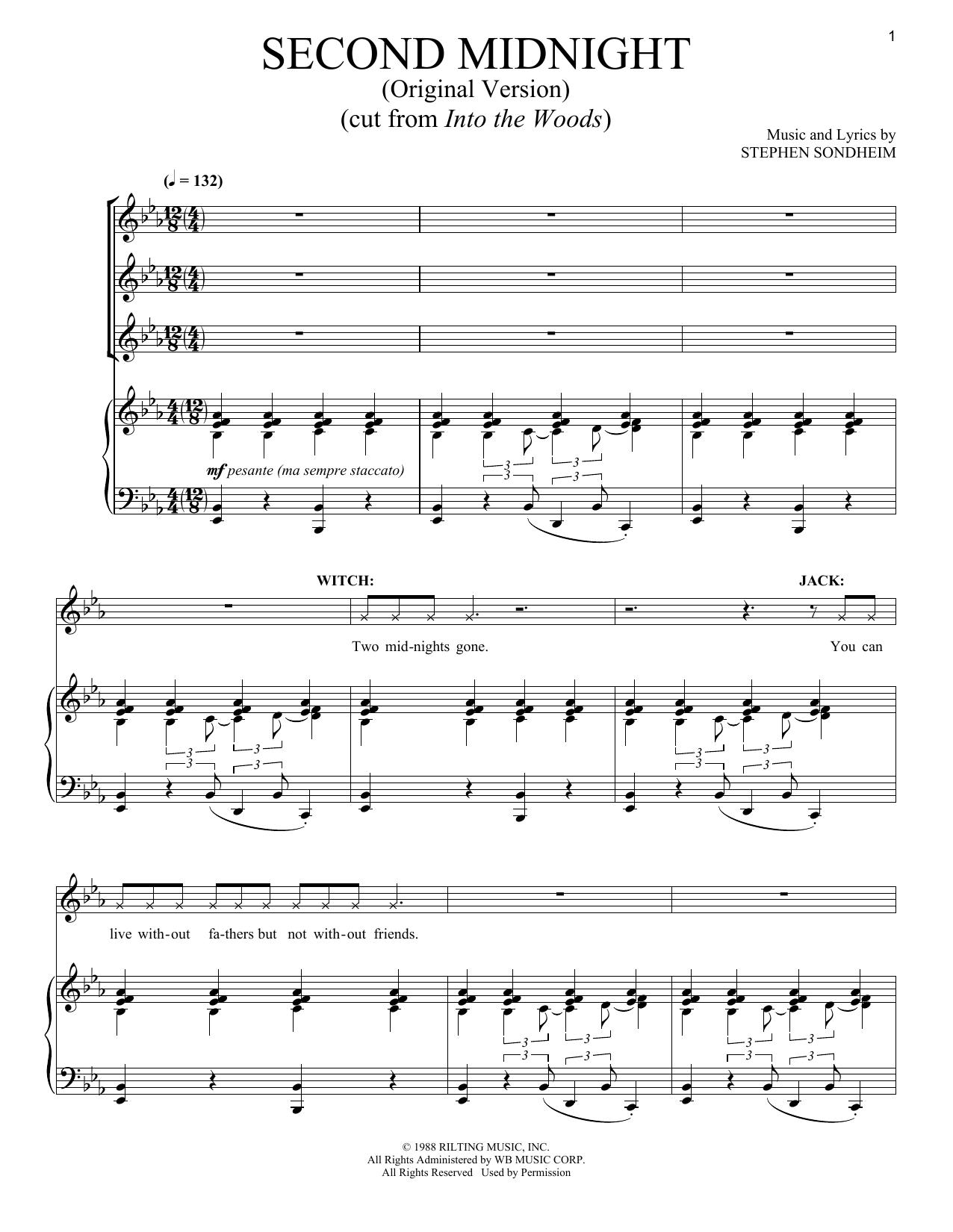 Stephen Sondheim - Second Midnight (Original Version)