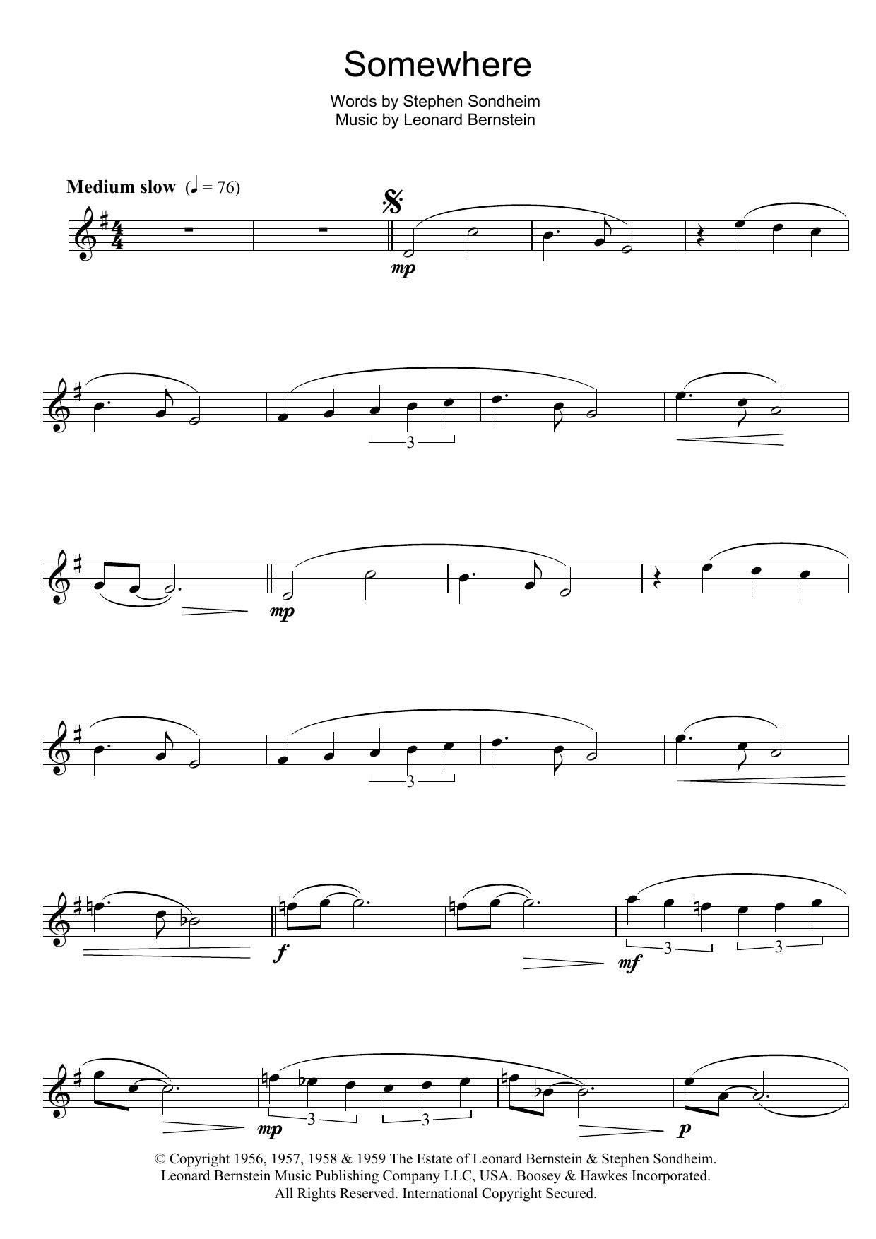 Leonard Bernstein - Somewhere (from West Side Story)