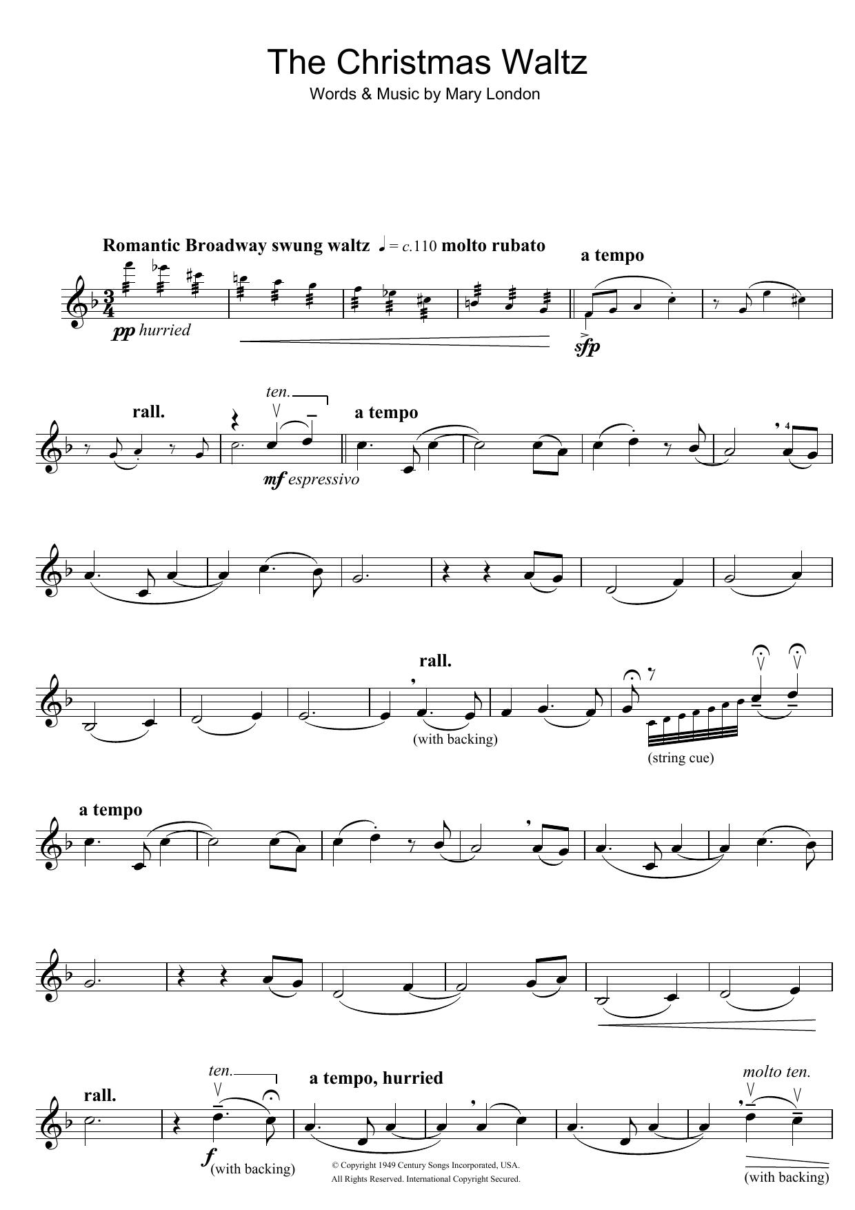 Mary London - The Christmas Waltz