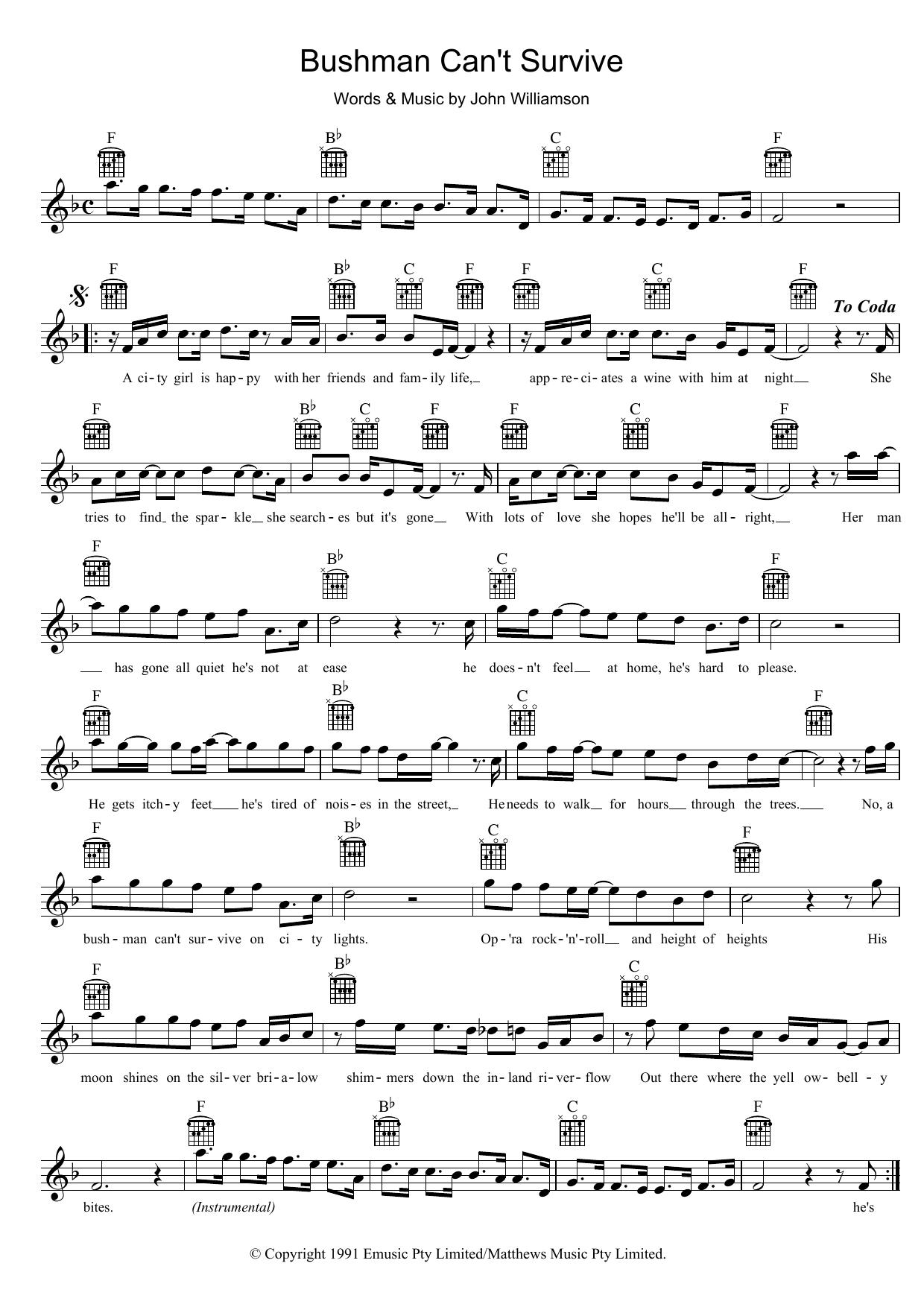 Sheet Music Digital Files To Print Licensed John Williamson