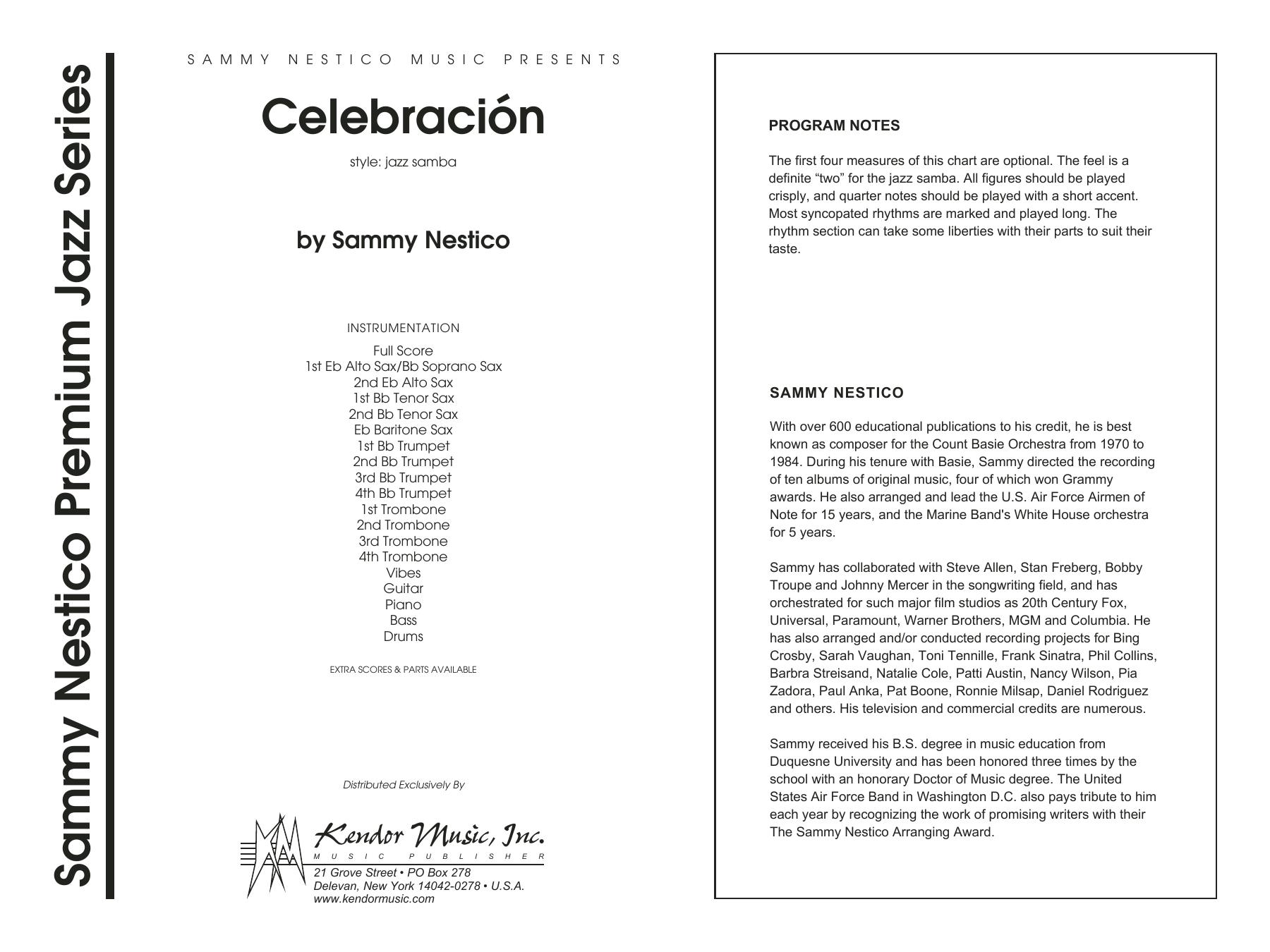 Celebracion (COMPLETE) sheet music for jazz band by Sammy Nestico