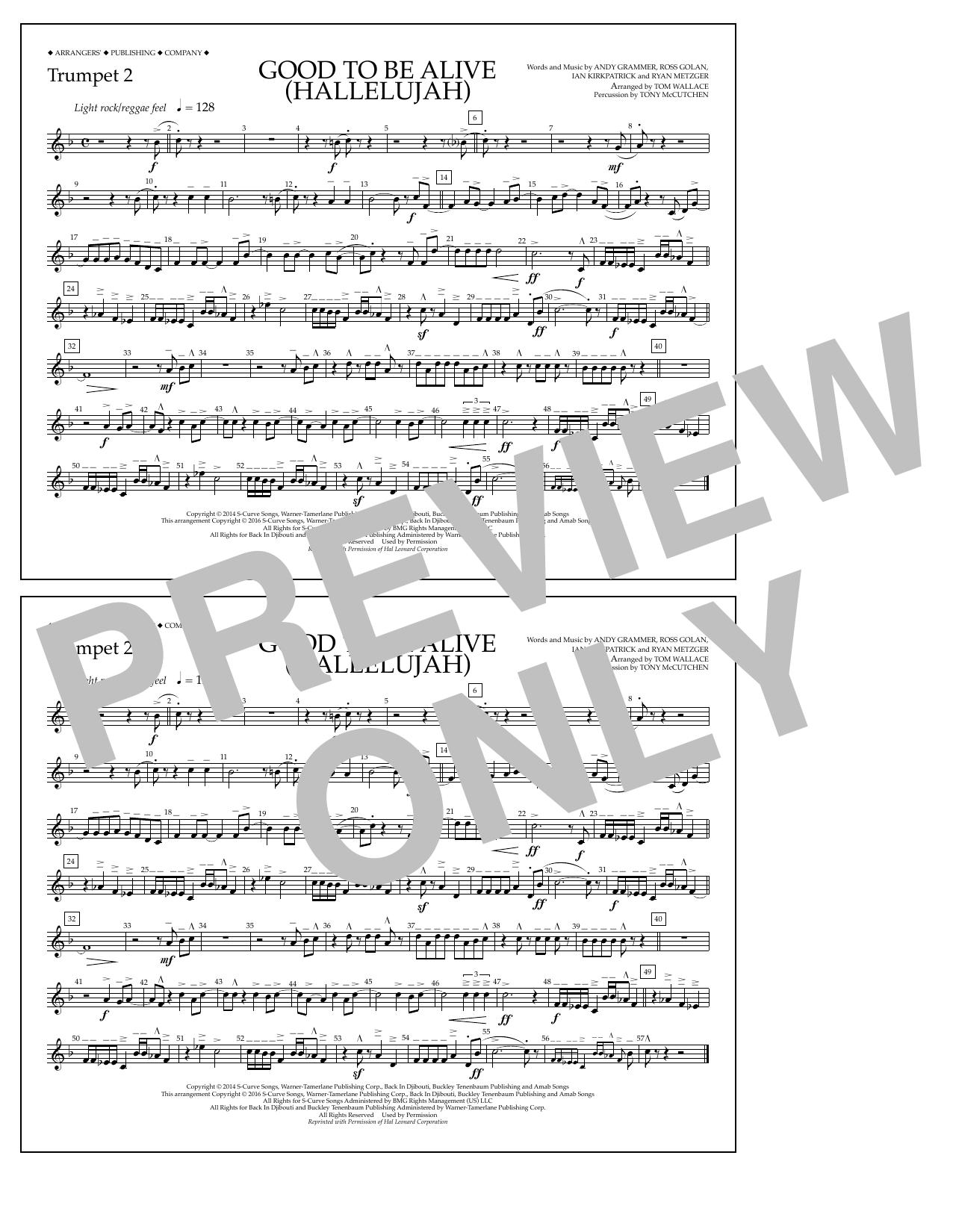 Andy Grammer - Good to Be Alive (Hallelujah) - Trumpet 2