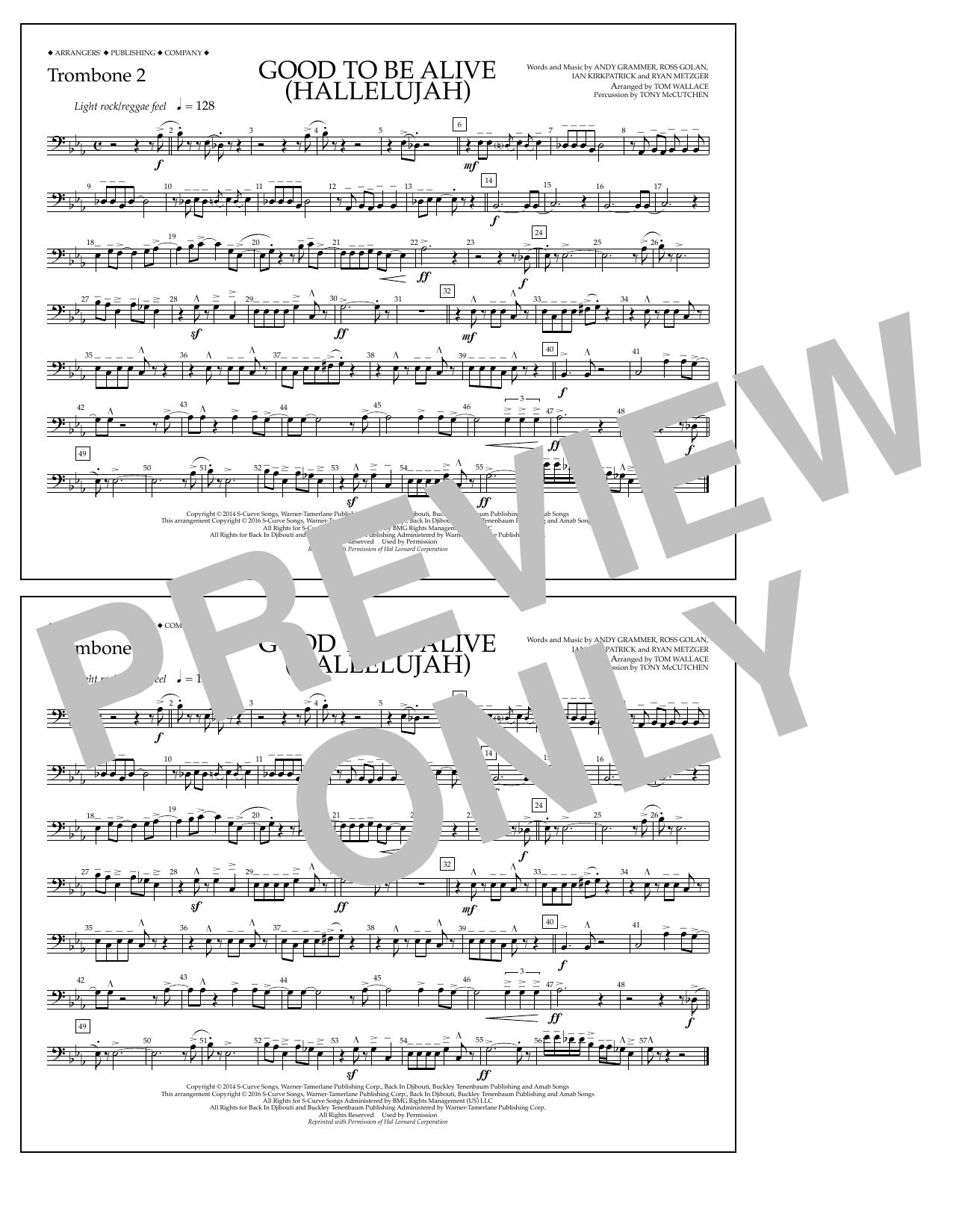 Andy Grammer - Good to Be Alive (Hallelujah) - Trombone 2