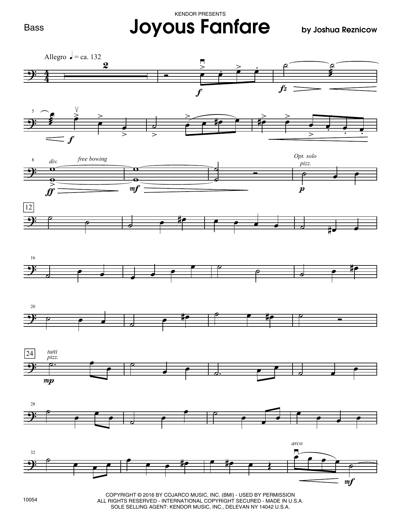 Joyous Fanfare - Bass