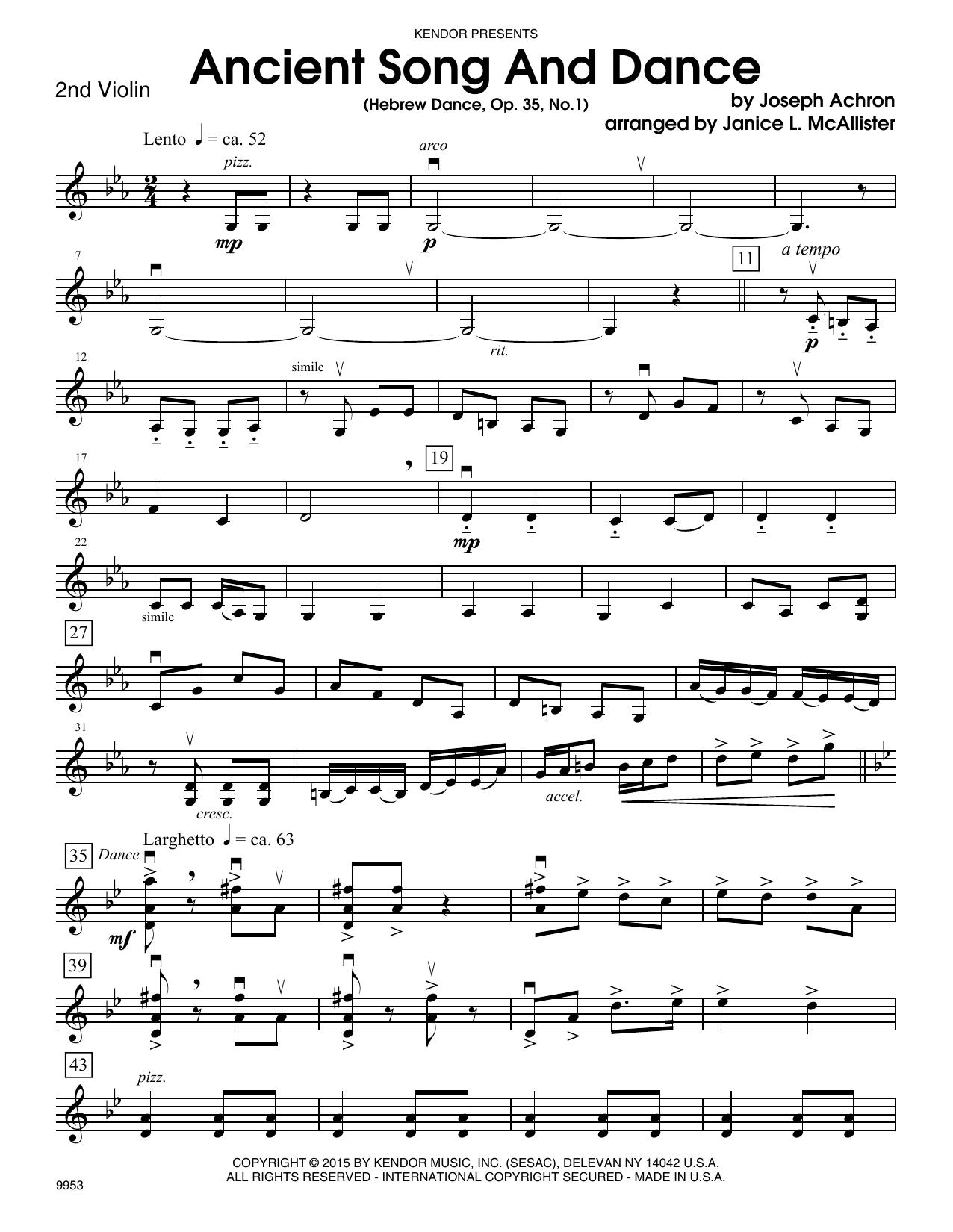 Ancient Song And Dance (Hebrew Dance, Op. 35, No. 1) - 2nd Violin