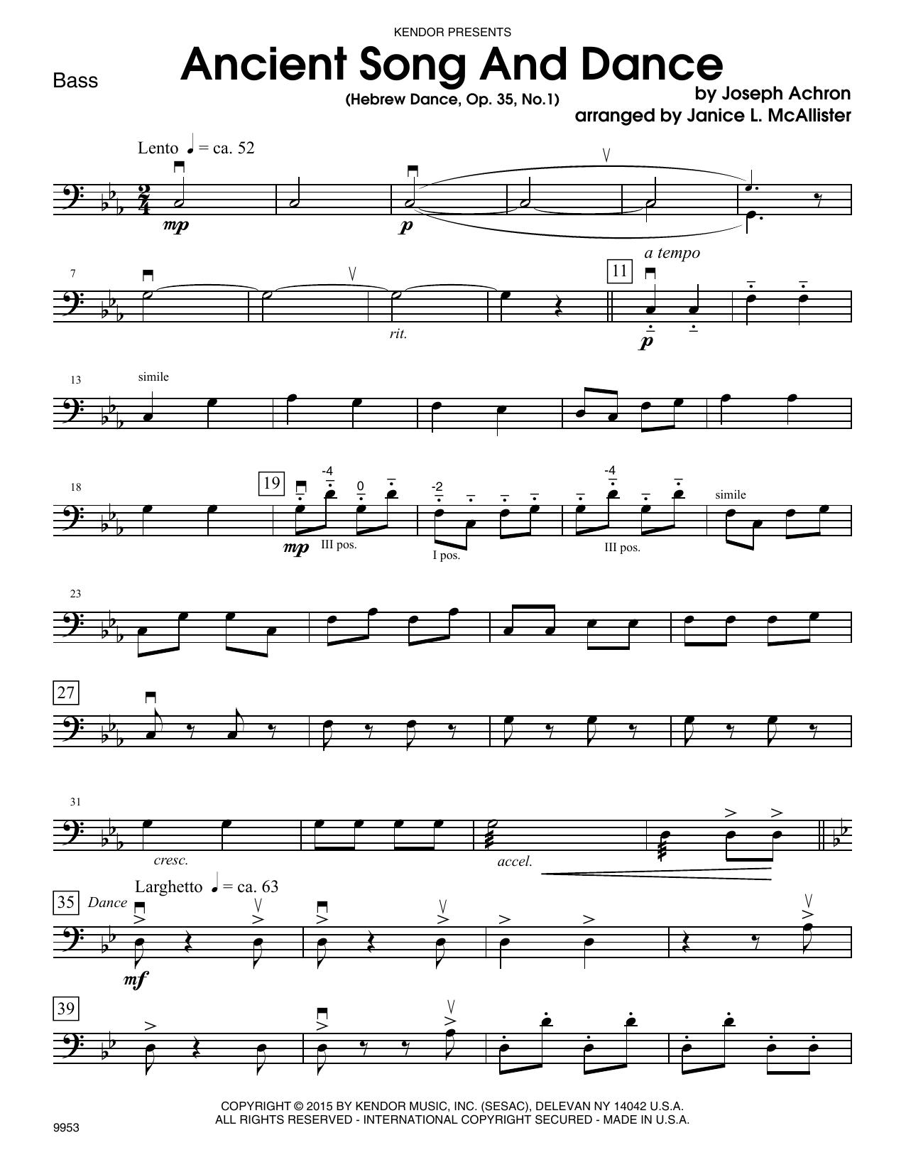 Ancient Song And Dance (Hebrew Dance, Op. 35, No. 1) - Bass