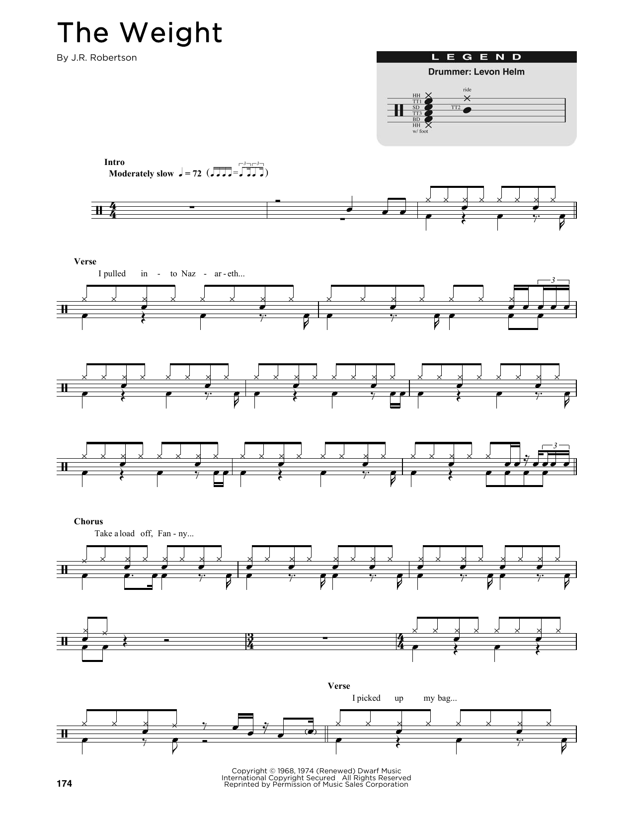 Sheet music digital files to print licensed the band digital the weight hexwebz Gallery