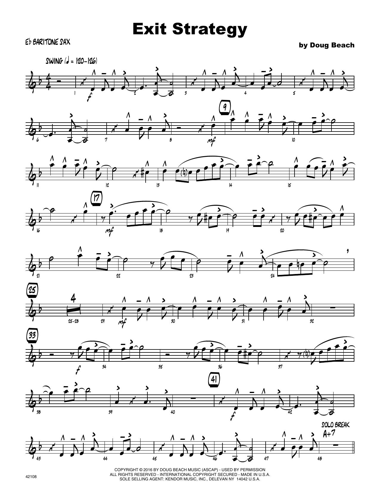 Exit Strategy - Eb Baritone Saxophone
