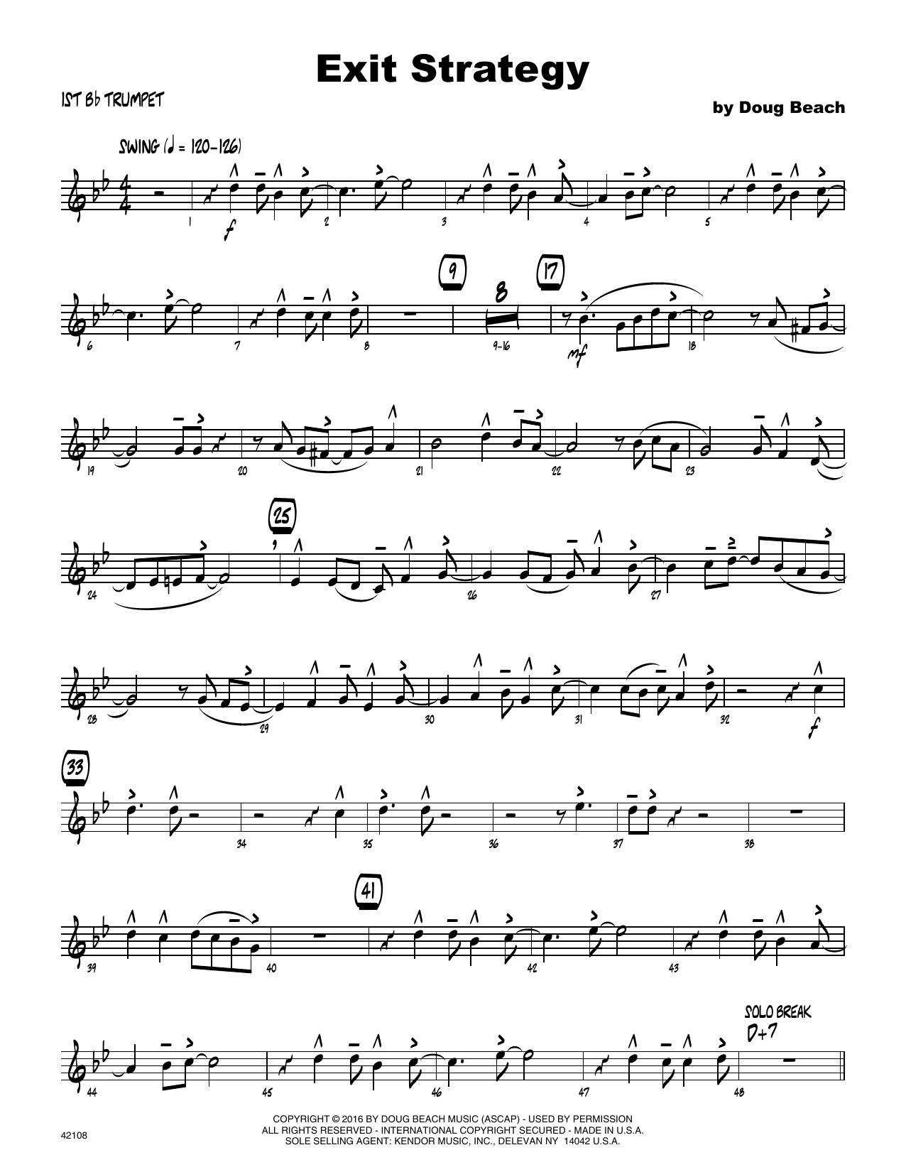 Exit Strategy - 1st Bb Trumpet