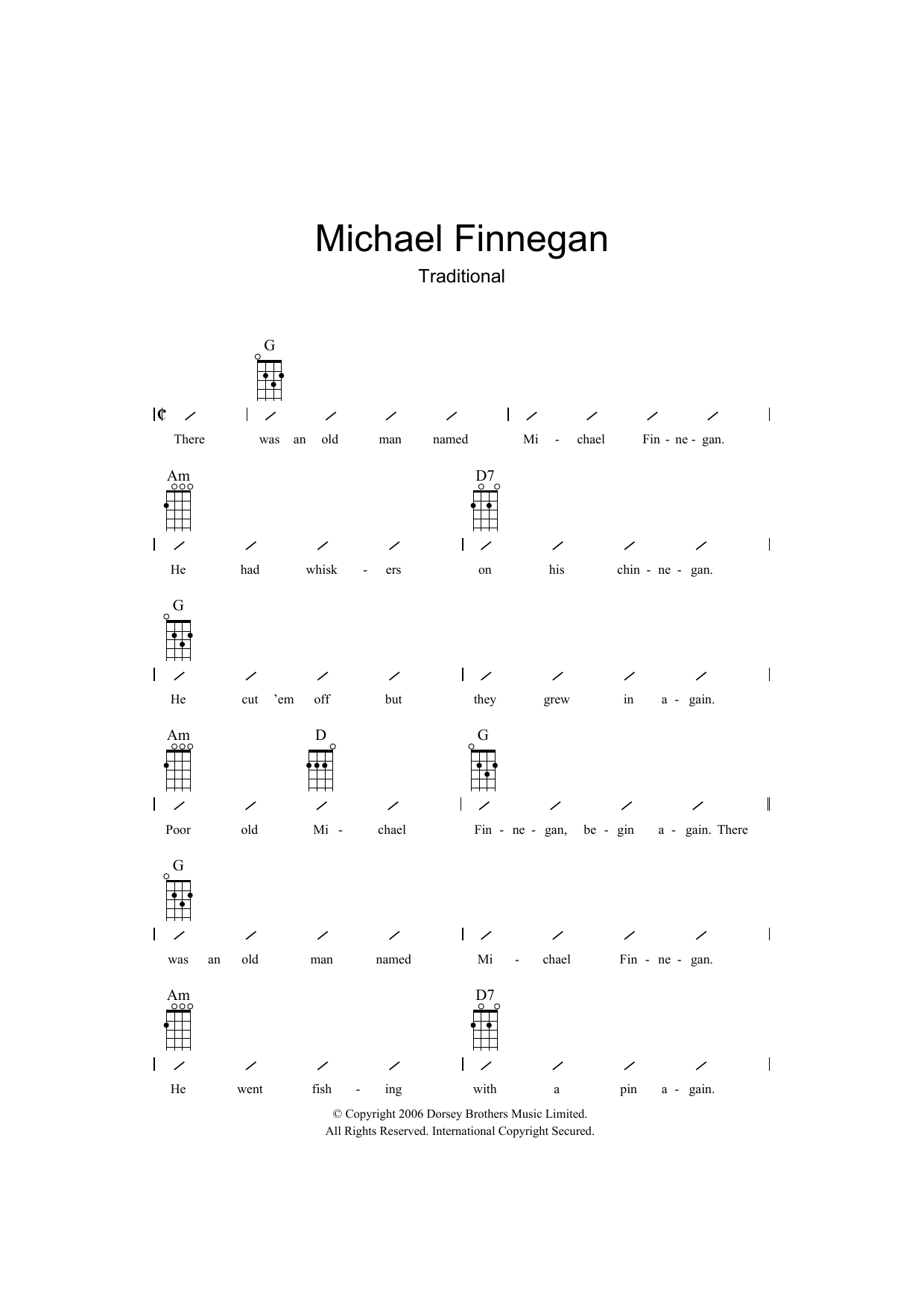 Traditional - Michael Finnegan