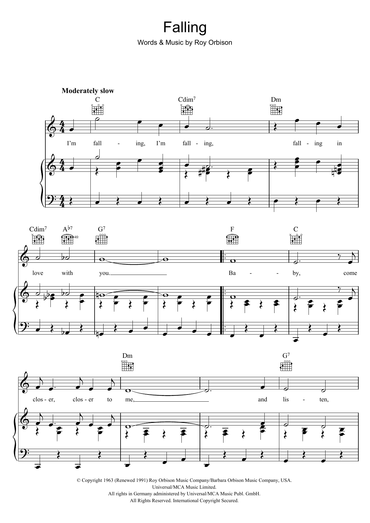 Roy Orbison - Falling