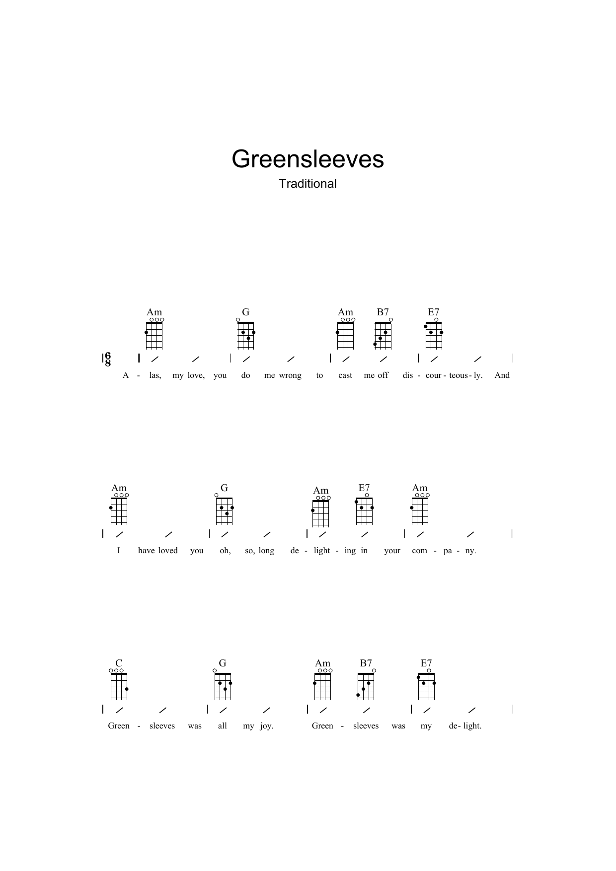 Traditional - Greensleeves