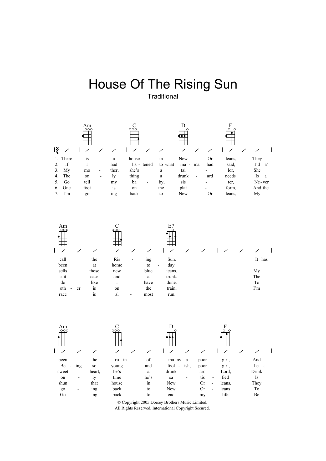 Traditional - House Of The Rising Sun