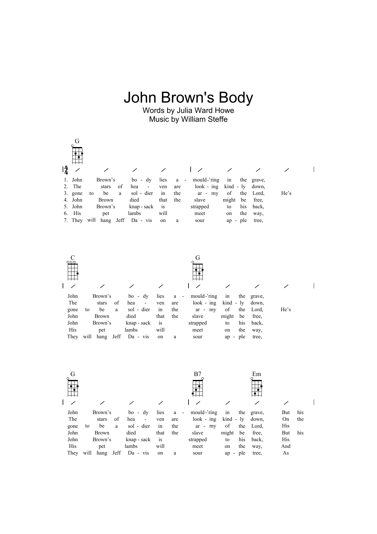 Traditional - John Brown's Body