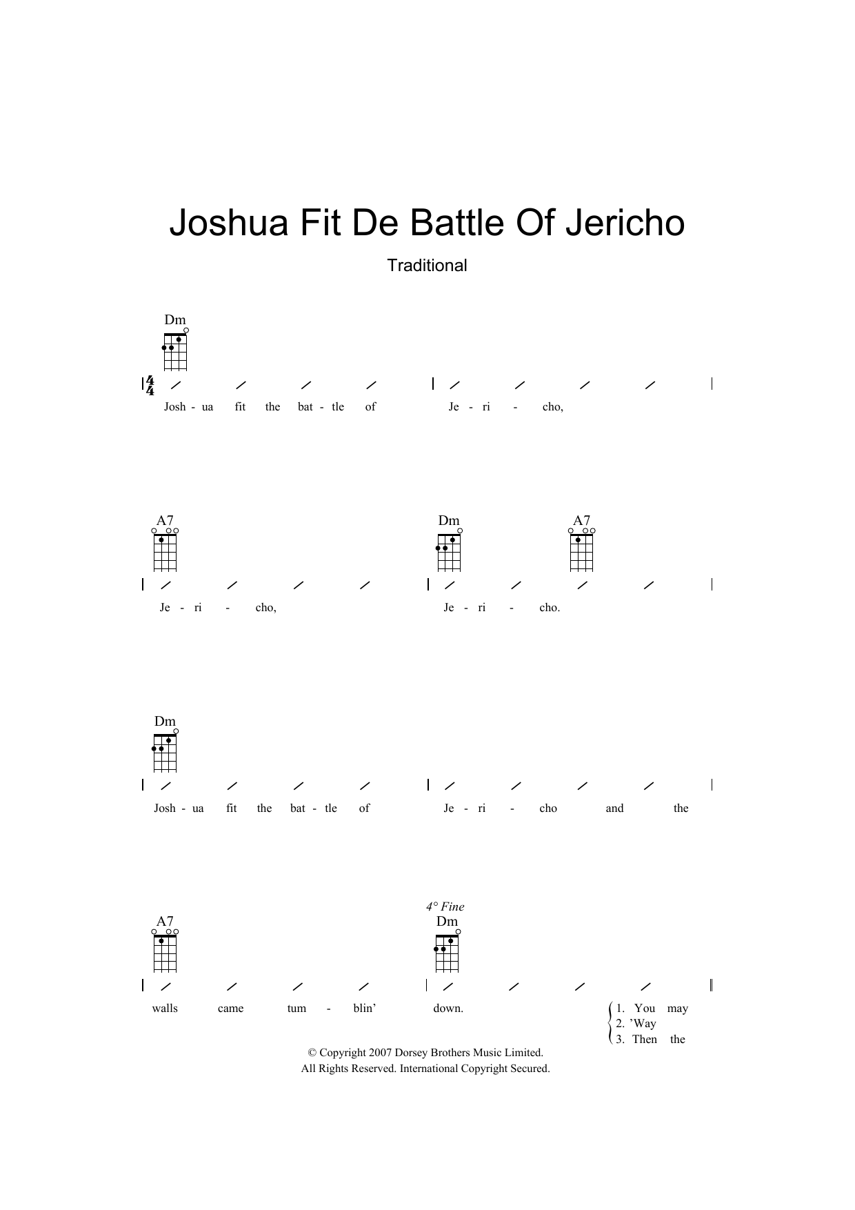 Traditional - Joshua Fit De Battle Of Jericho