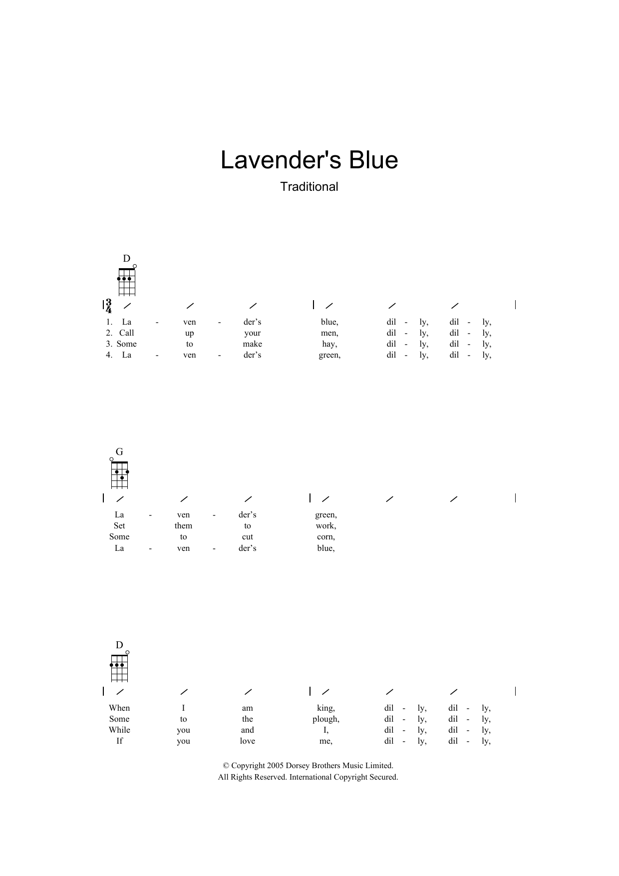 Traditional - Lavender Blue