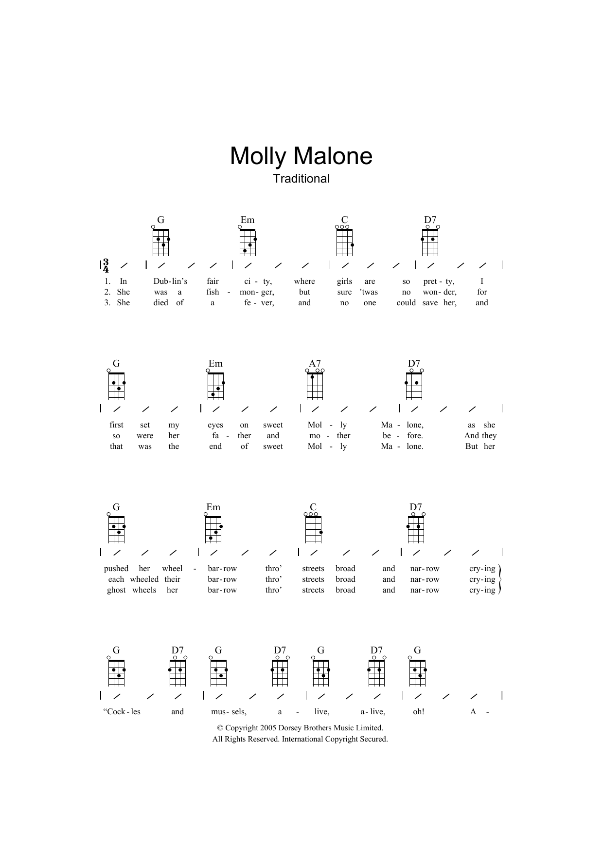 Traditional - Molly Malone