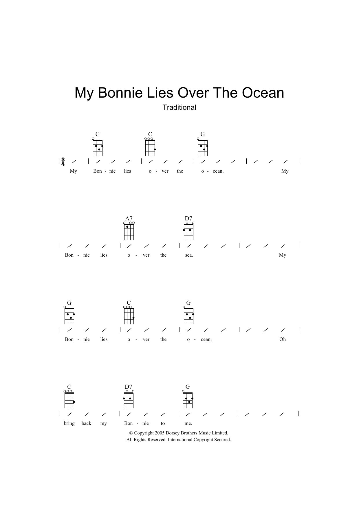 Traditional - My Bonnie Lies Over The Ocean