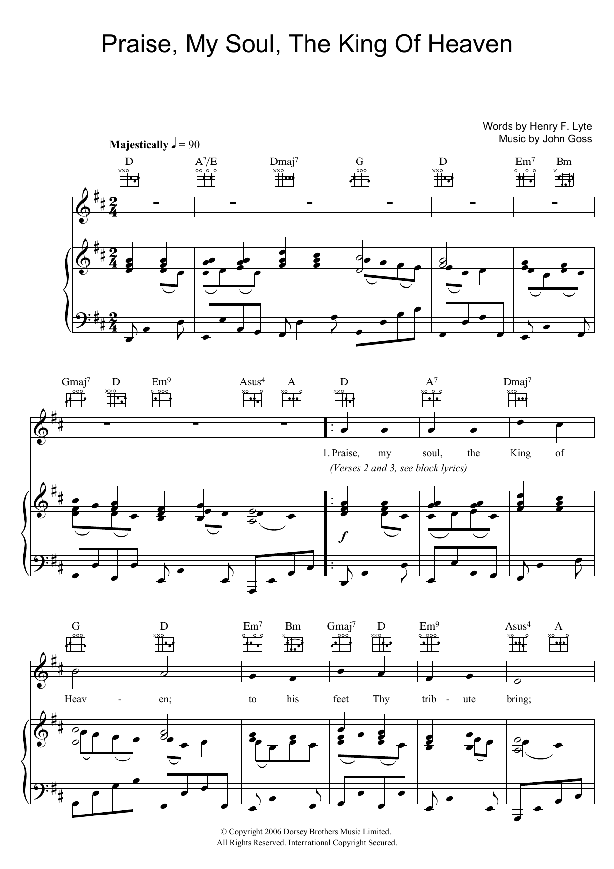 Traditional: Praise, My Soul, The King Of Heaven