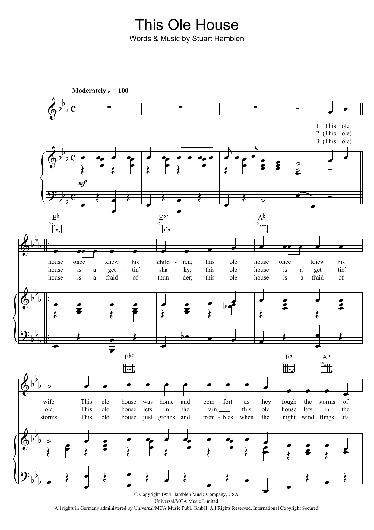Sheet Music Digital Files To Print Licensed Shakin
