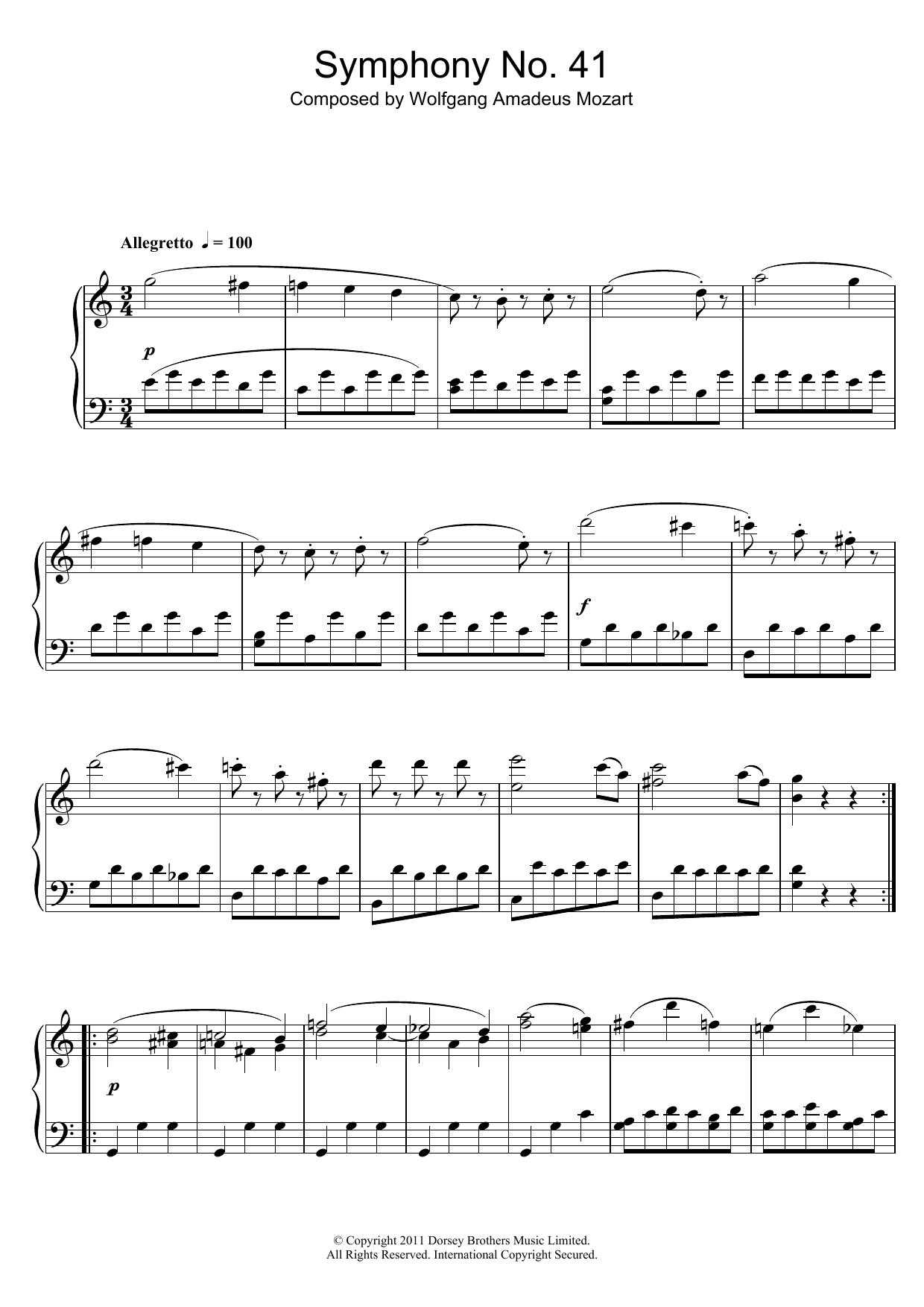 Wolfgang Amadeus Mozart - Symphony No.41 'Jupiter' (3rd Movement: Minuet)