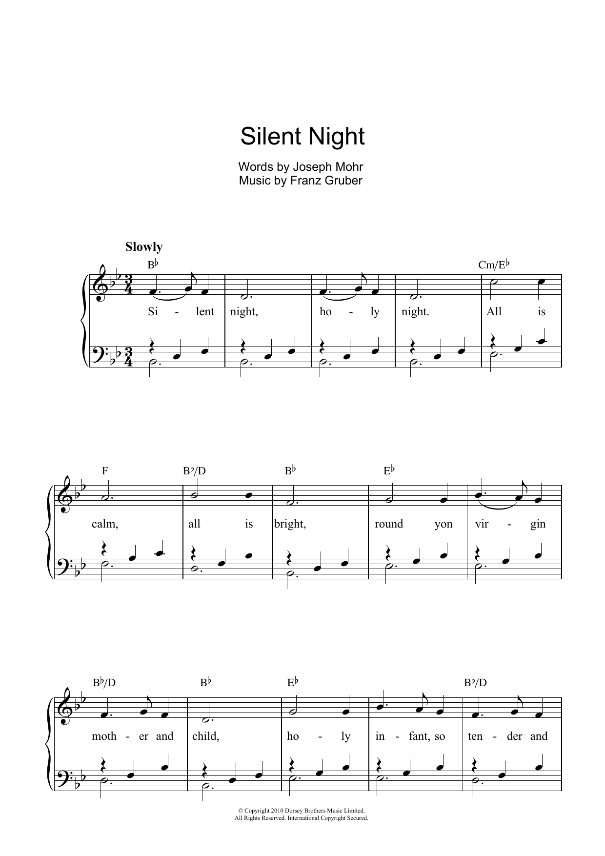 Traditional Carol: Silent Night