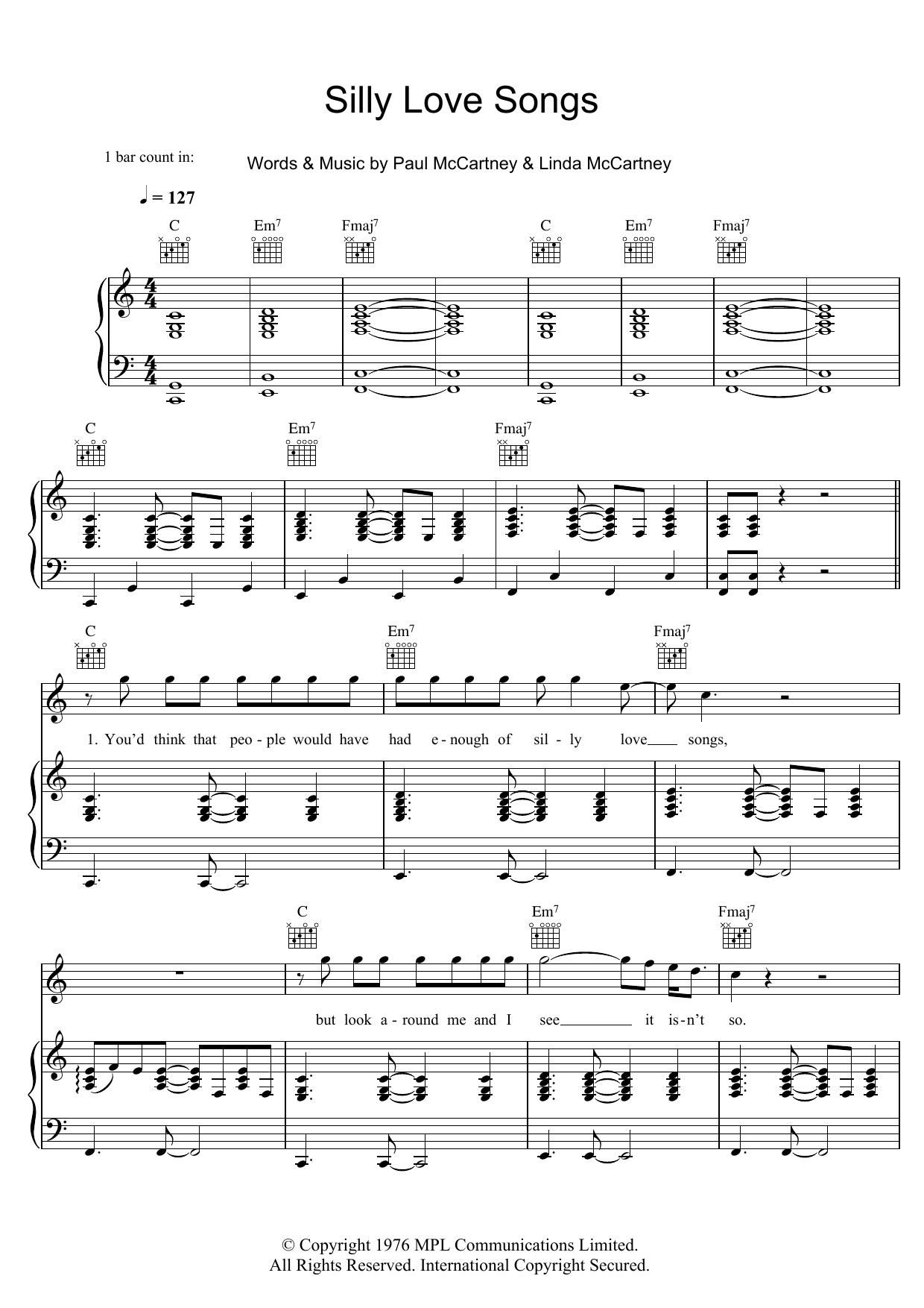 Paul McCartney - Silly Love Songs