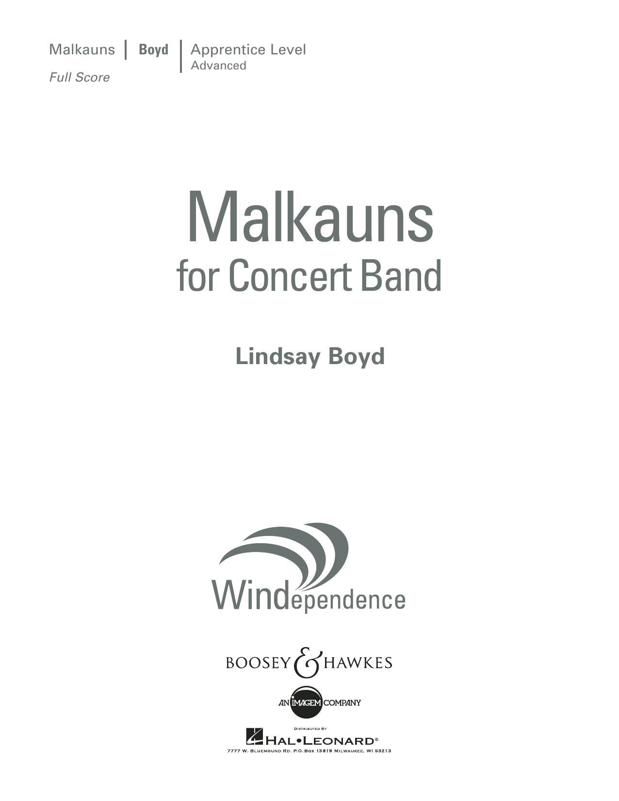 Malkauns - Conductor Score (Full Score)