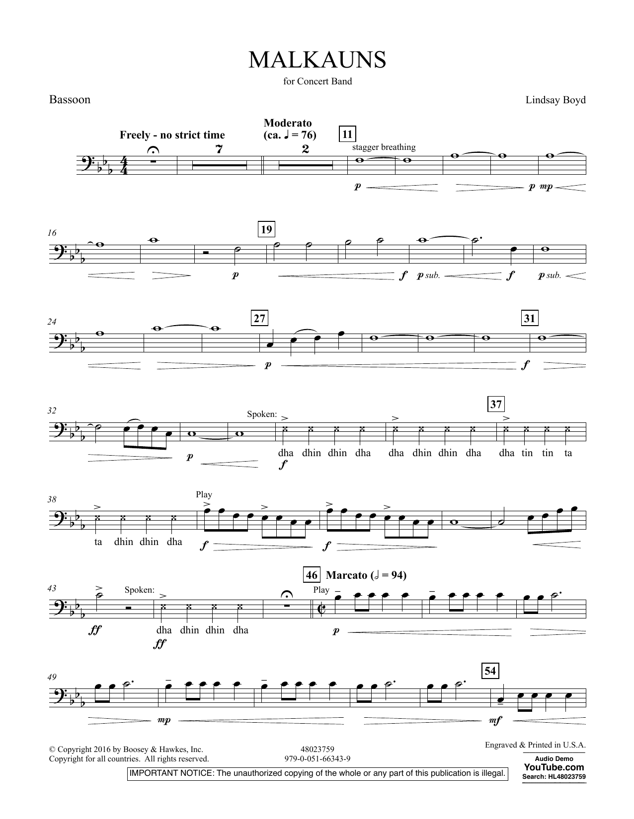 Malkauns - Bassoon
