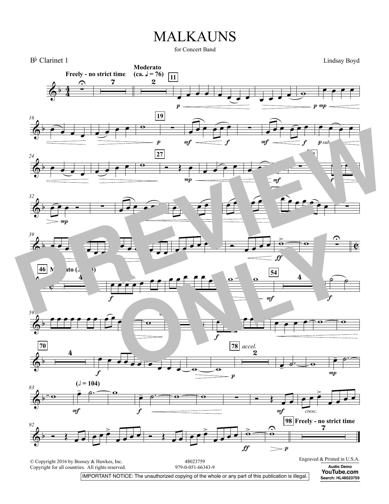 Malkauns - Bb Clarinet 1