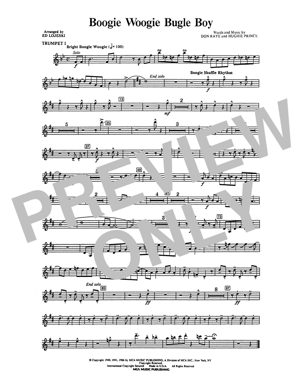 Andrews Sisters - Boogie Woogie Bugle Boy - Bb Trumpet 1
