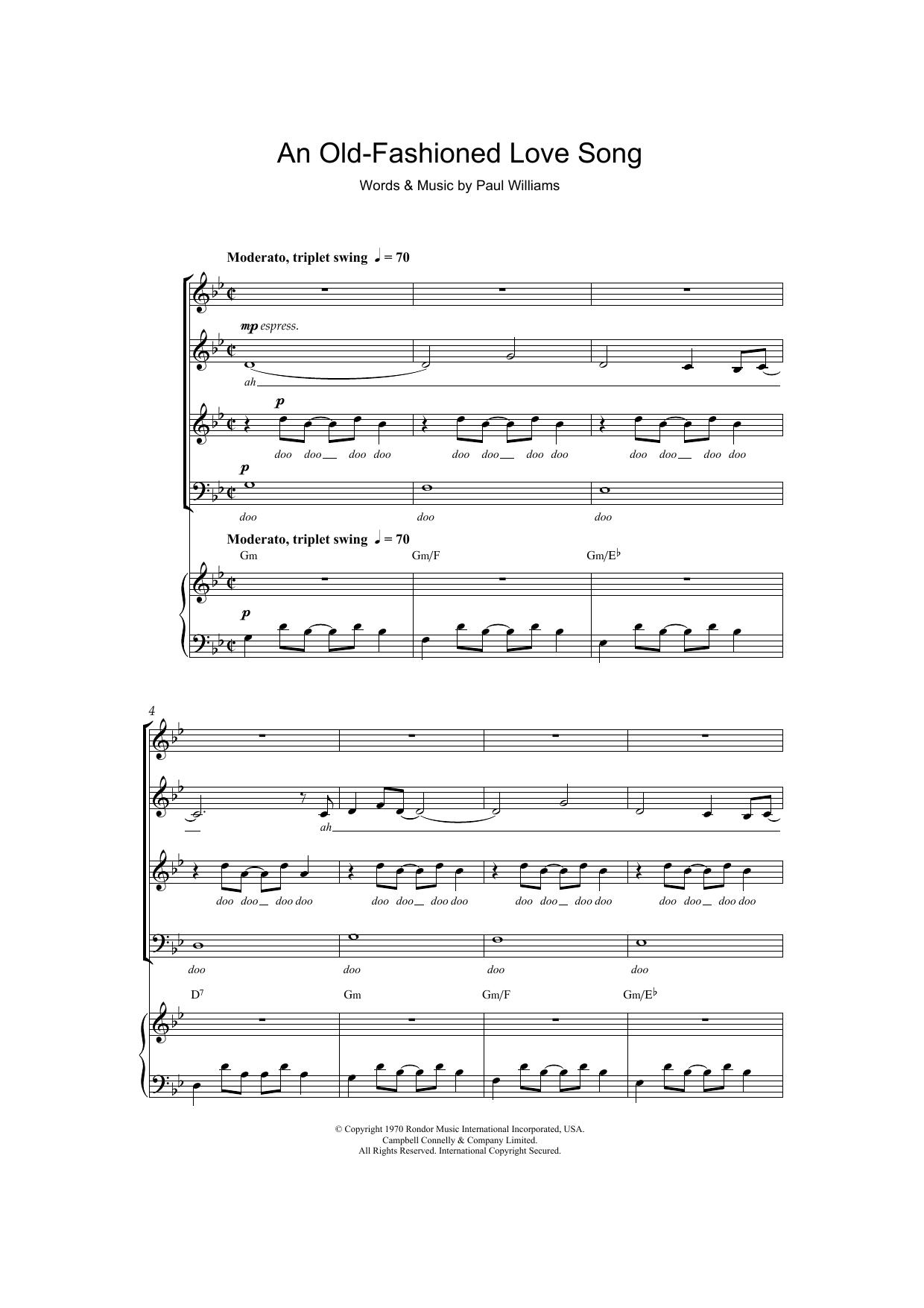 Sheet Music Digital Files To Print Licensed Paul Williams Digital