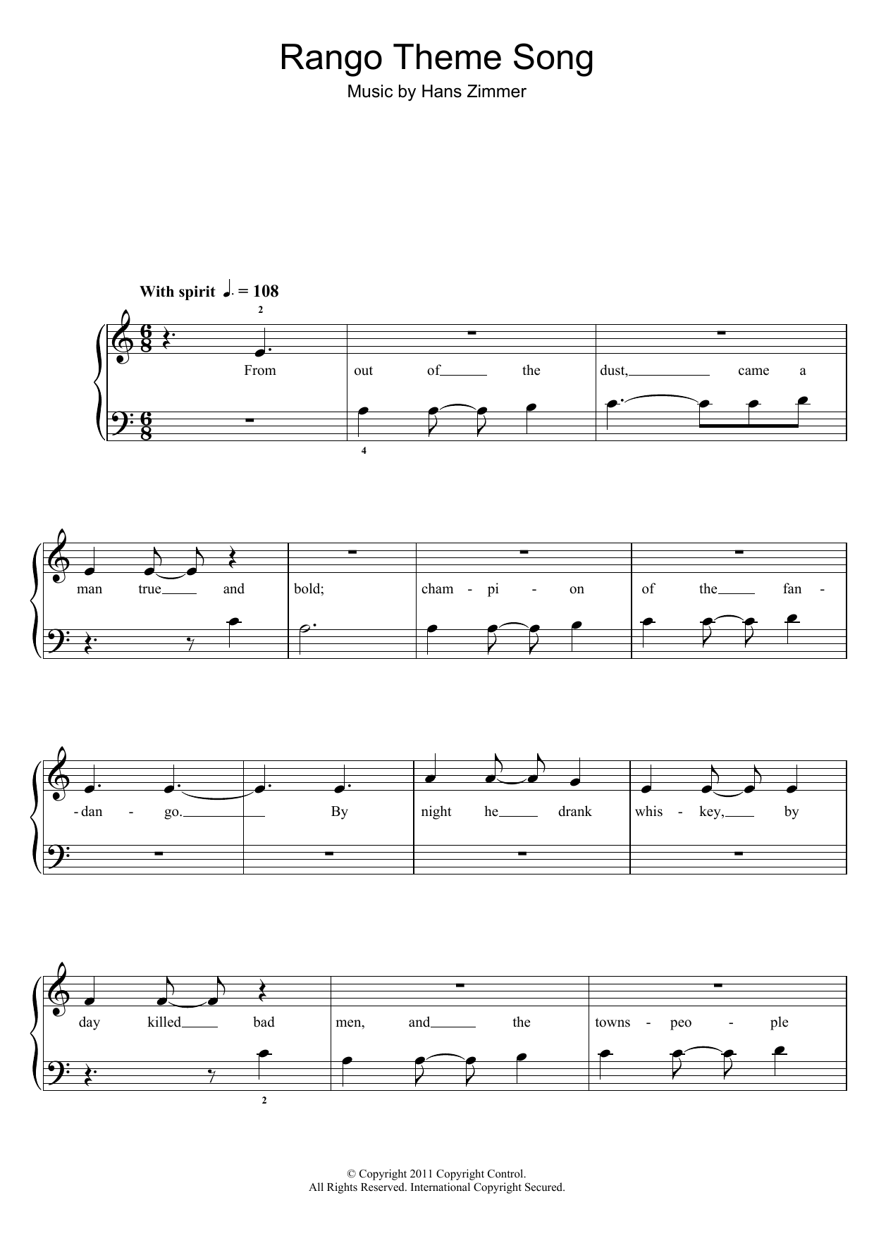 Hans Zimmer - Rango Theme Song