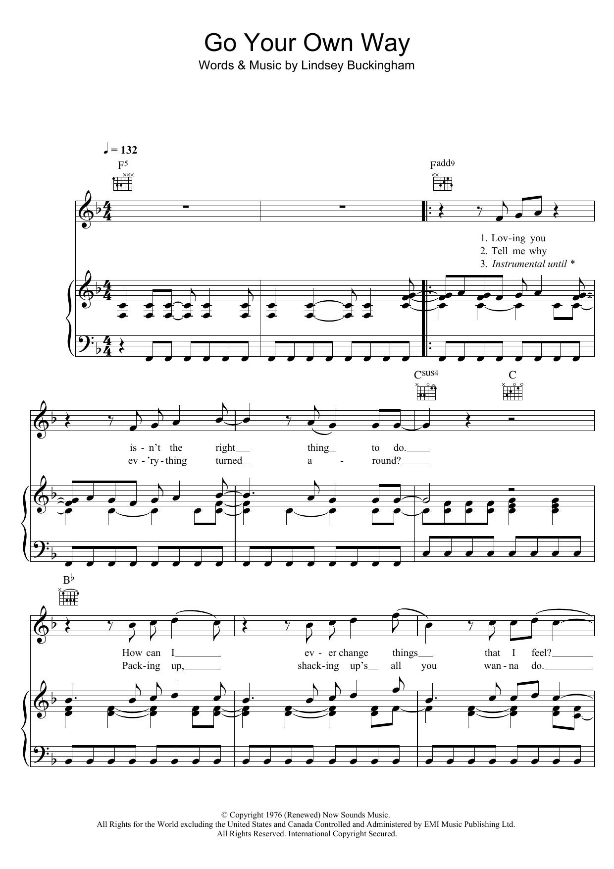 songbird fleetwood mac sheet music pdf
