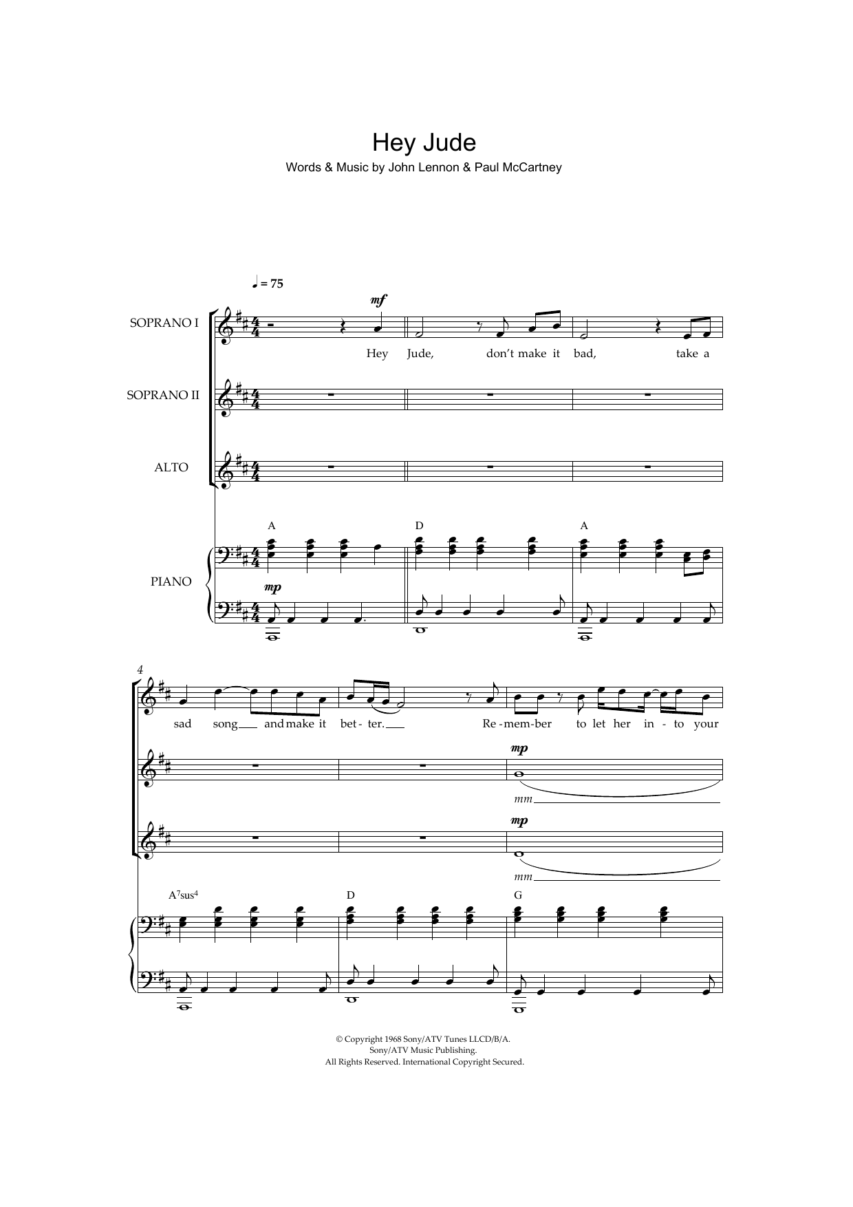 Sheet Music Digital Files To Print Licensed The Beatles Digital