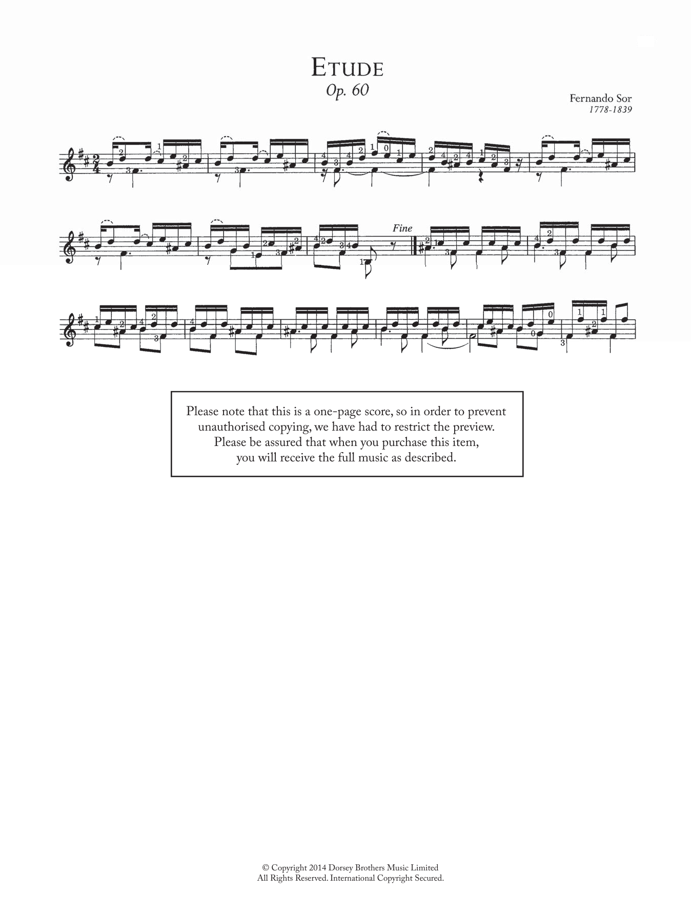 Fernando Sor - Etude, Op.60