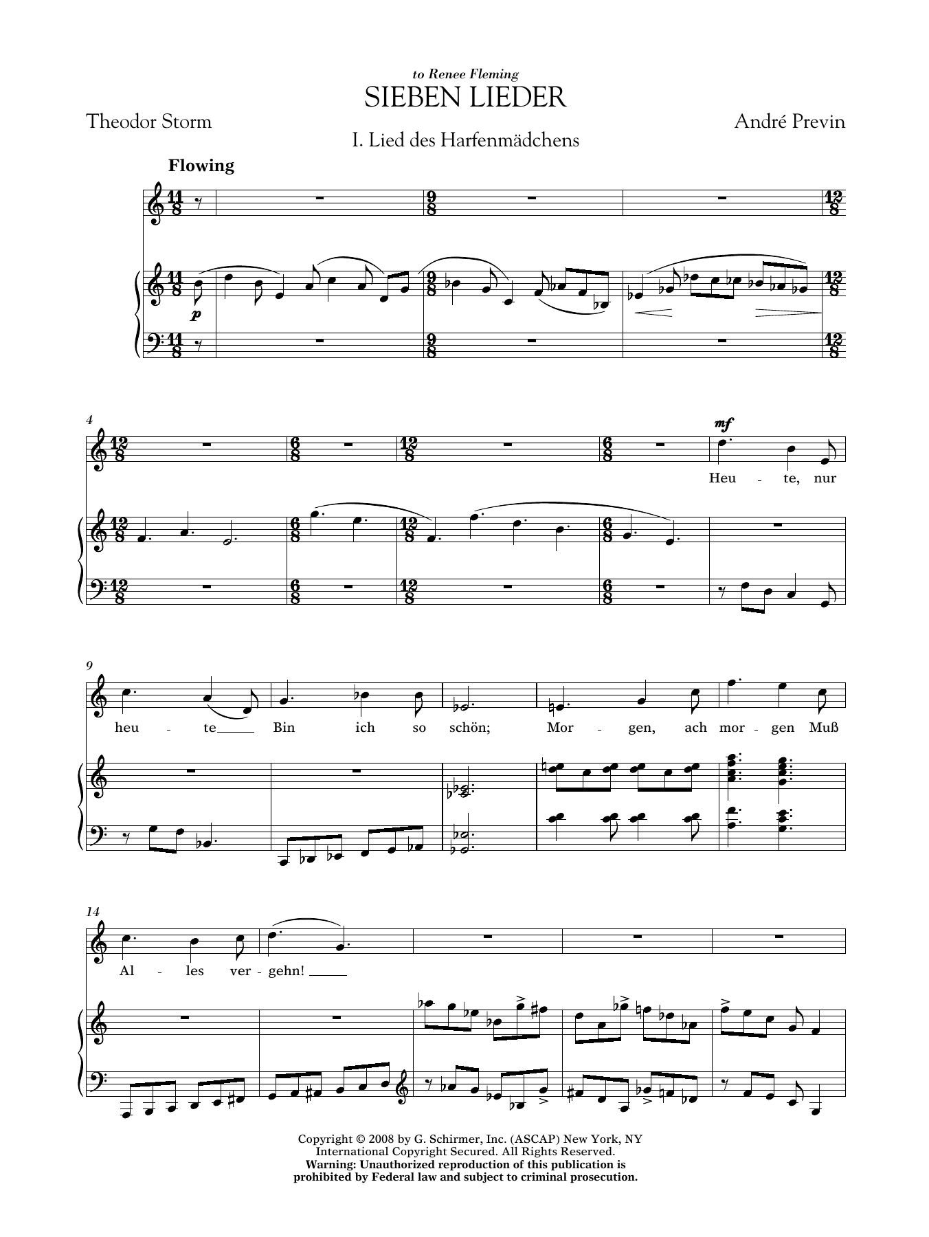 André Previn: Sieben Lieder