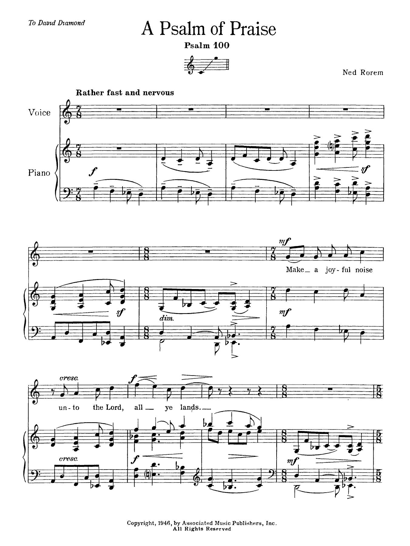 Ned Rorem - Psalm Of Praise (Psalm 100)