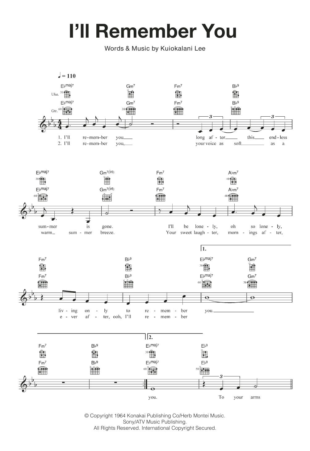 Sheet Music Digital Files To Print - Licensed Ukulele Digital Sheet ...
