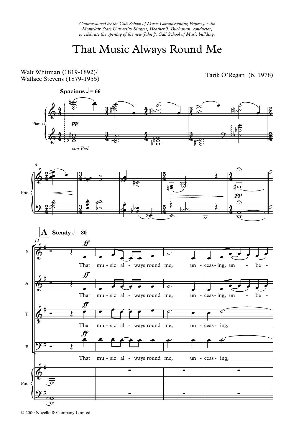 Tarik O'Regan - That Music Always Round Me
