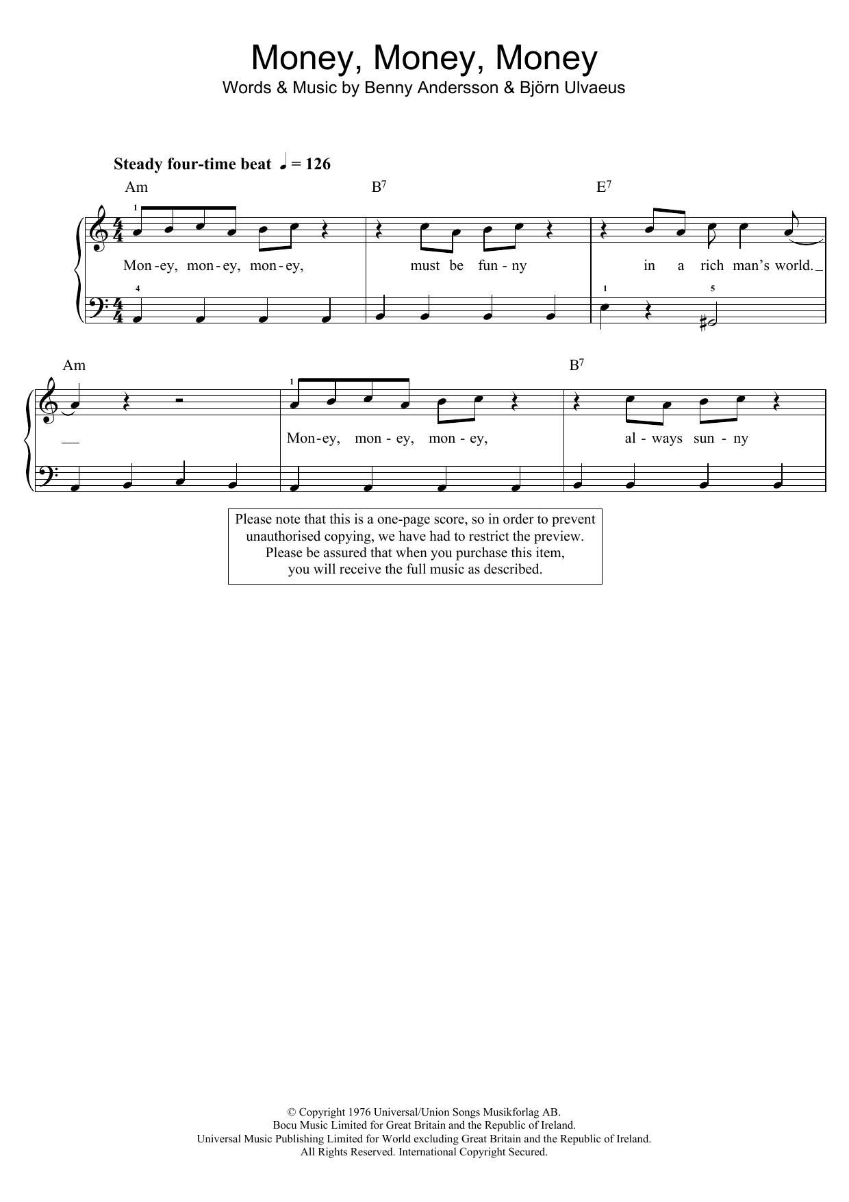 Sheet Music Digital Files To Print Licensed Abba Digital Sheet Music